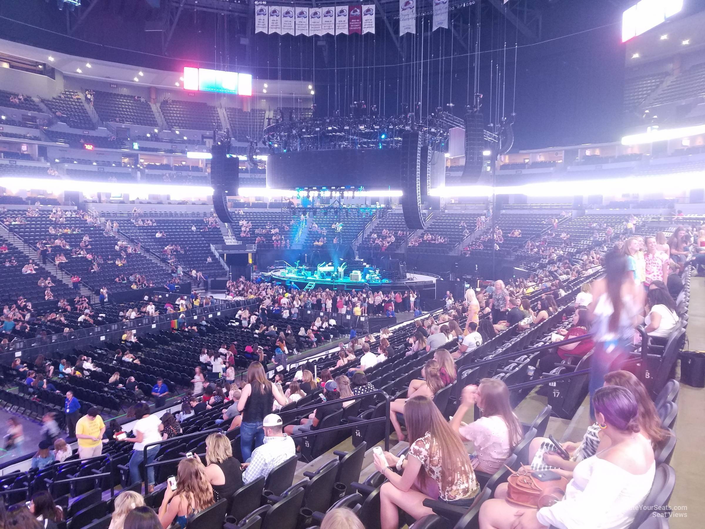 Pepsi Center: Pepsi Center Section 104 Concert Seating