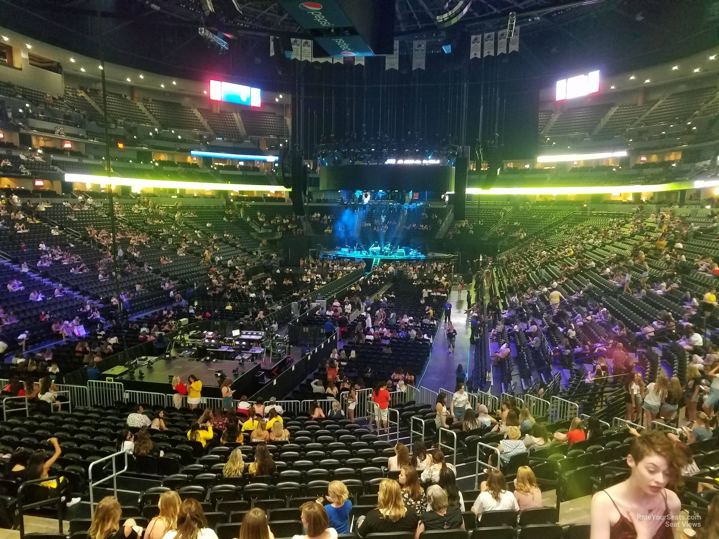 Pepsi Center: Pepsi Center Section 110 Concert Seating