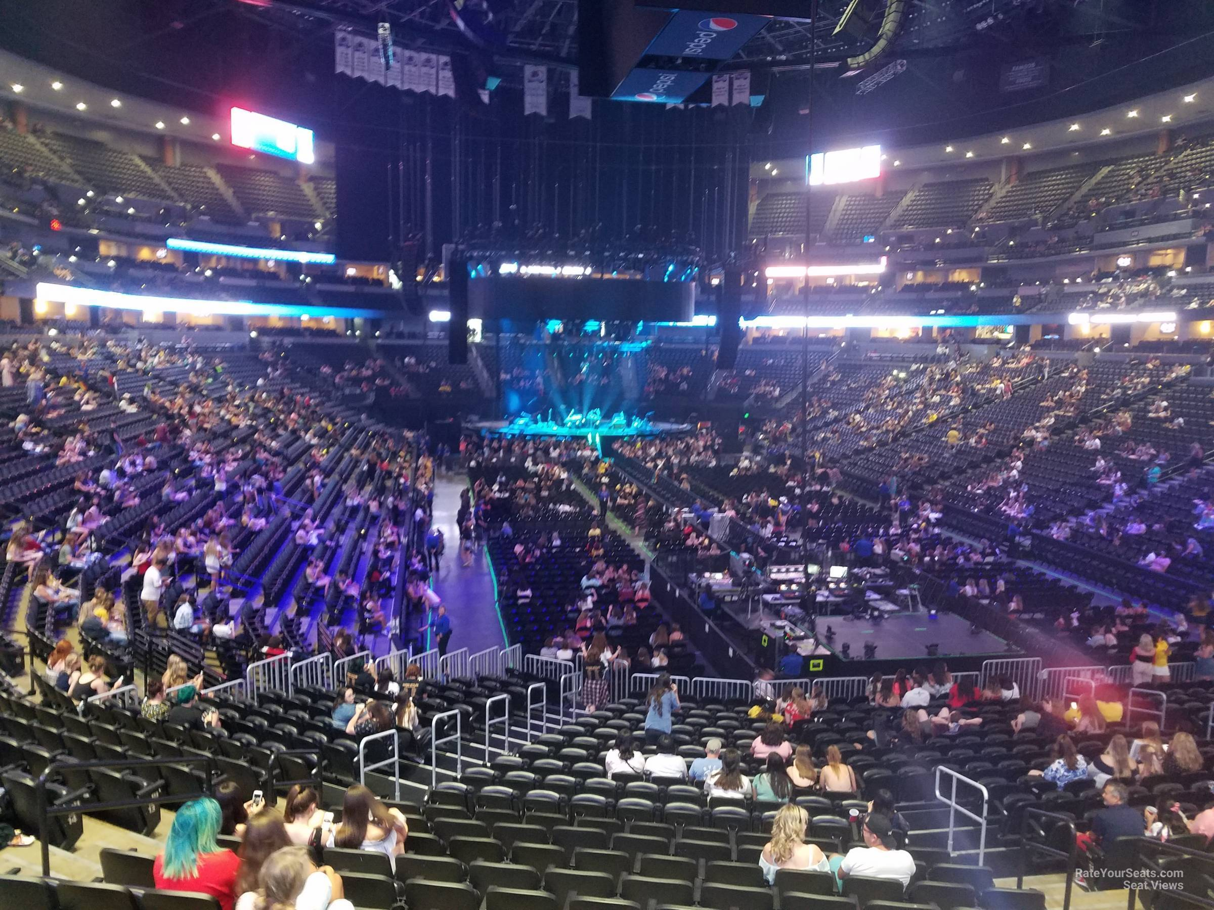 Concert Seat View for Ball Arena Section 116, Row 19