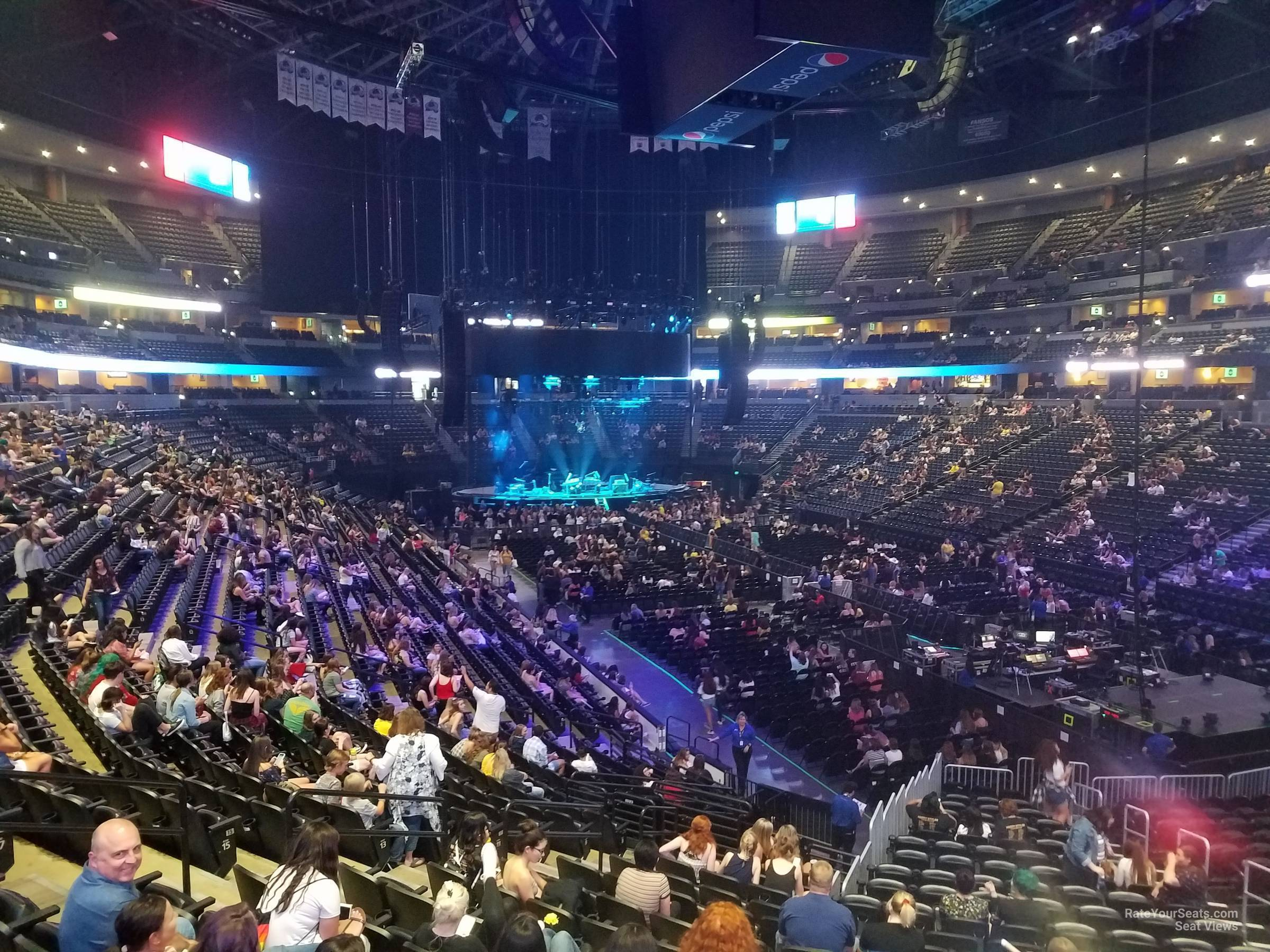 Pepsi Center: Pepsi Center Section 118 Concert Seating