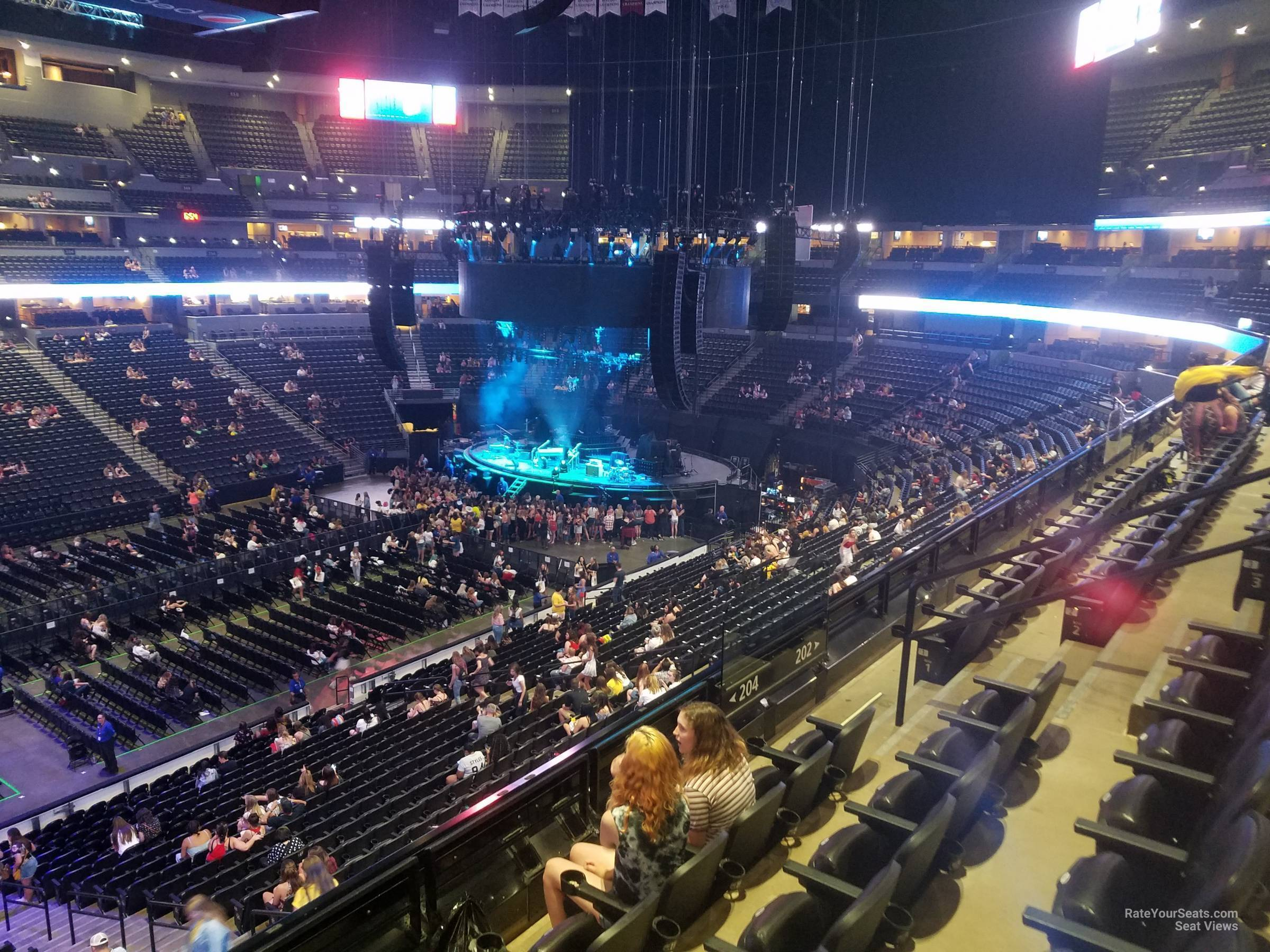 Pepsi Center: Pepsi Center Section 204 Concert Seating