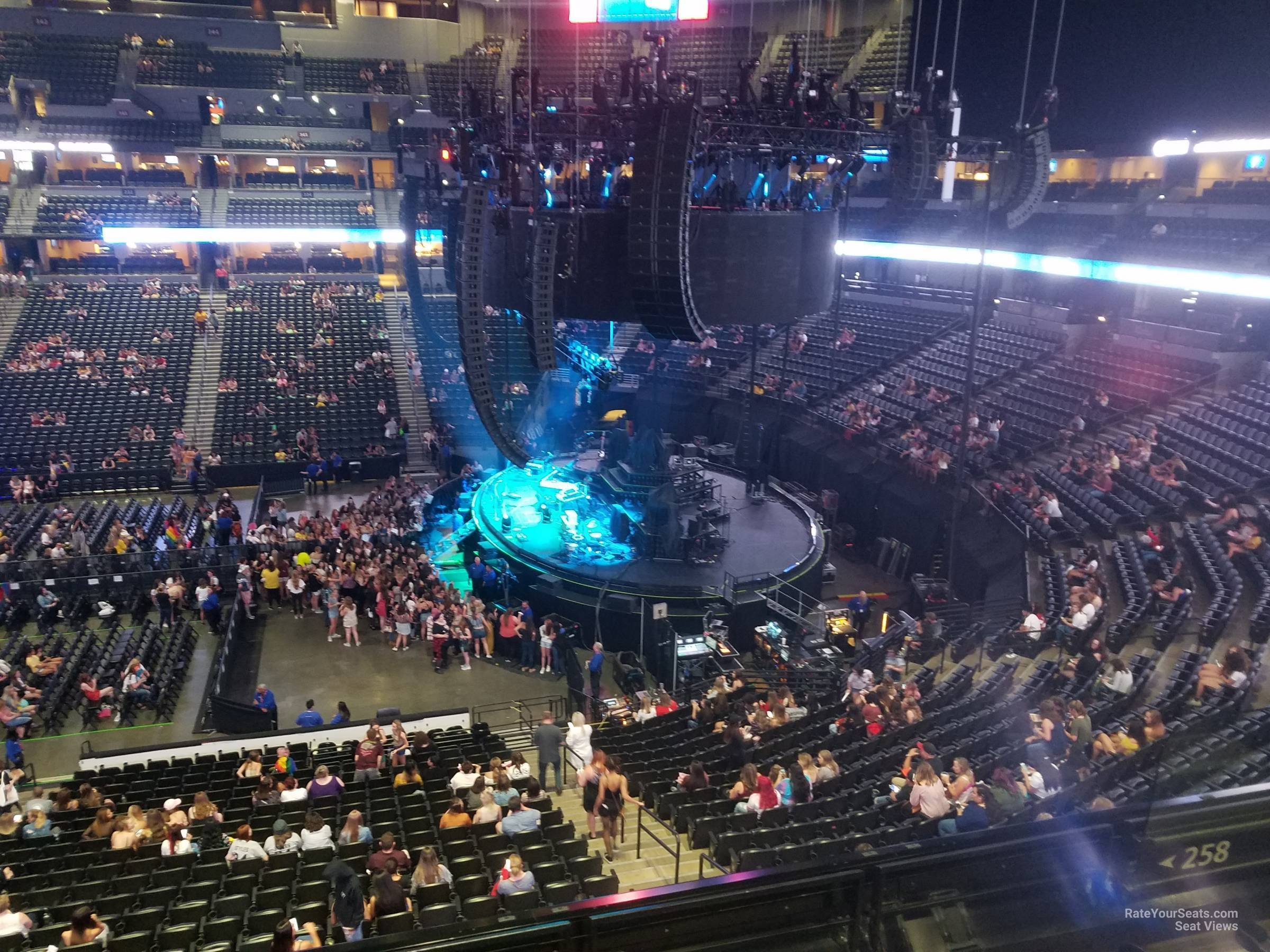 Pepsi Center: Pepsi Center Section 258 Concert Seating