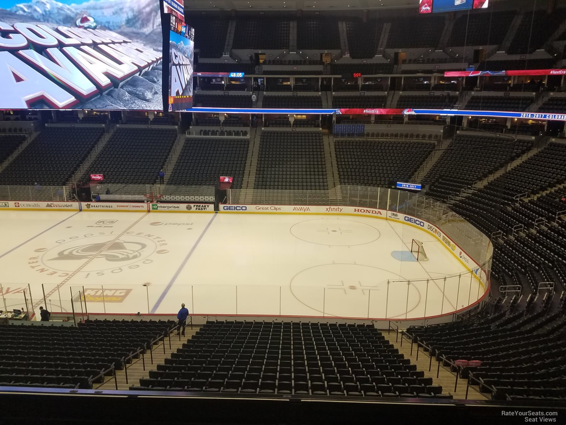 Colorado Avalanche Seat View for Pepsi Center Section 228
