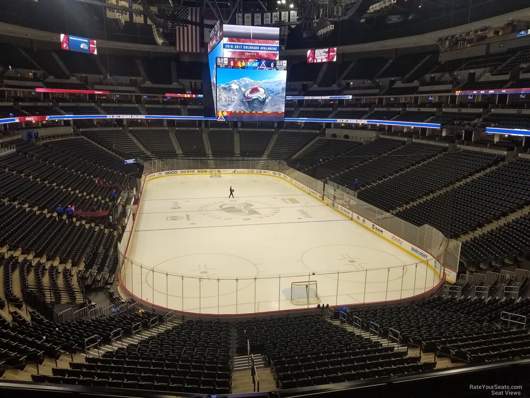 Colorado Avalanche Seat View for Pepsi Center Section 248