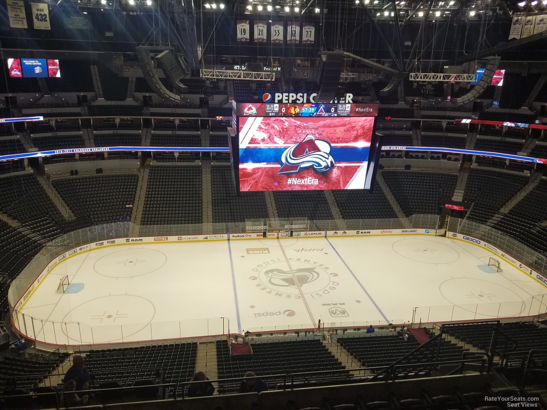 Colorado Avalanche Seat View for Pepsi Center Section 304