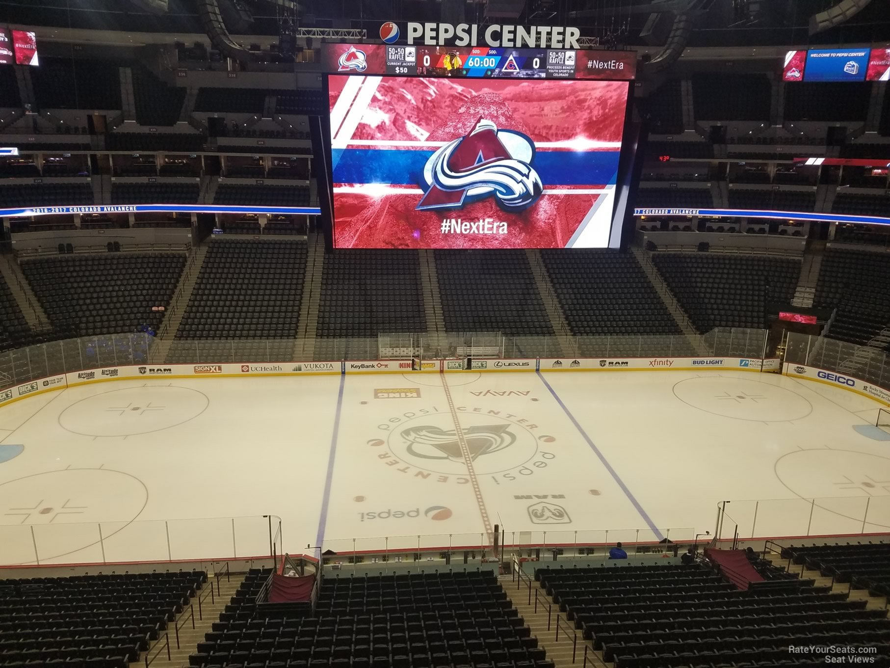 Colorado Avalanche Seat View for Pepsi Center Section 305