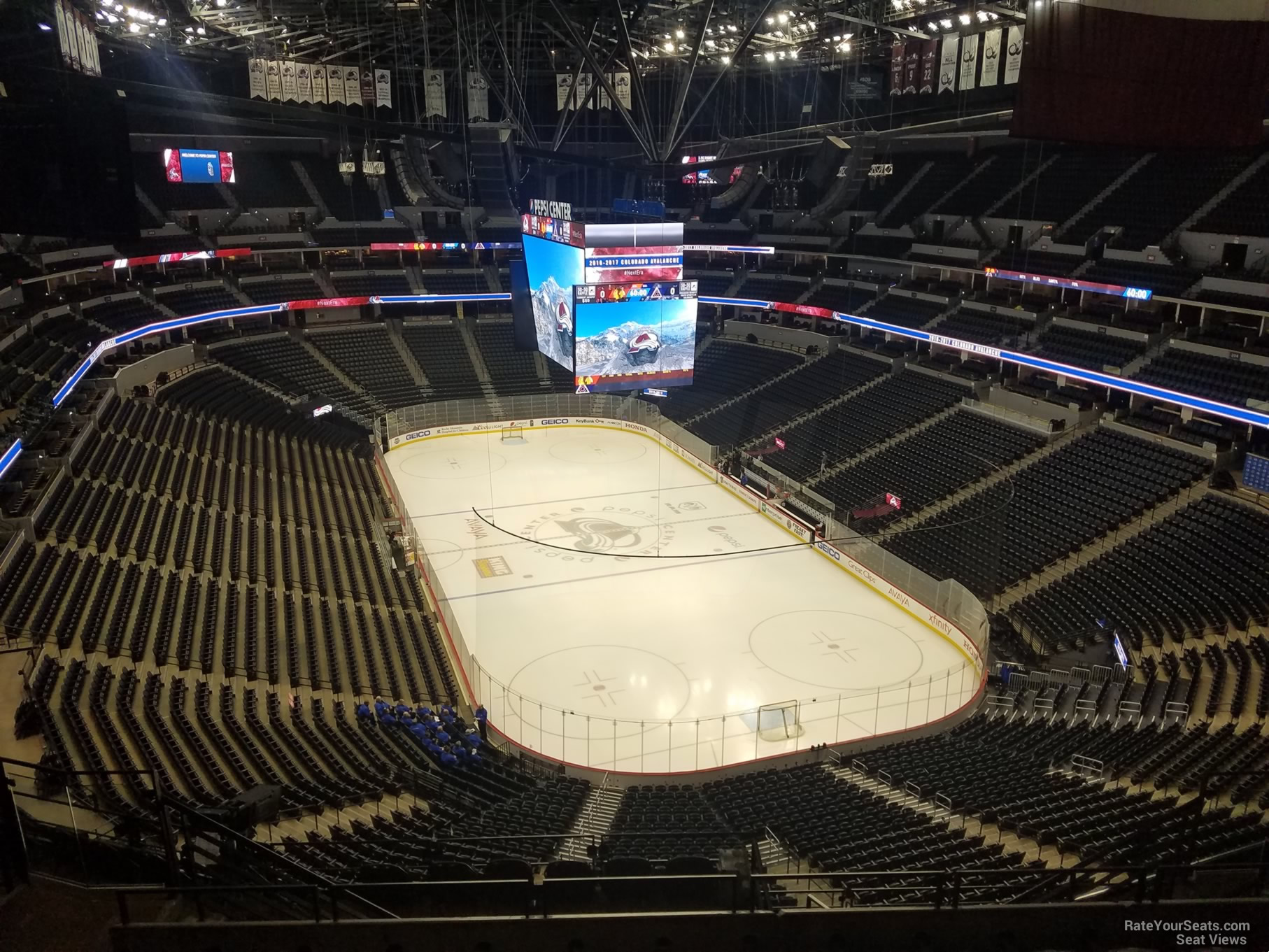 Colorado Avalanche Seat View for Pepsi Center Section 326
