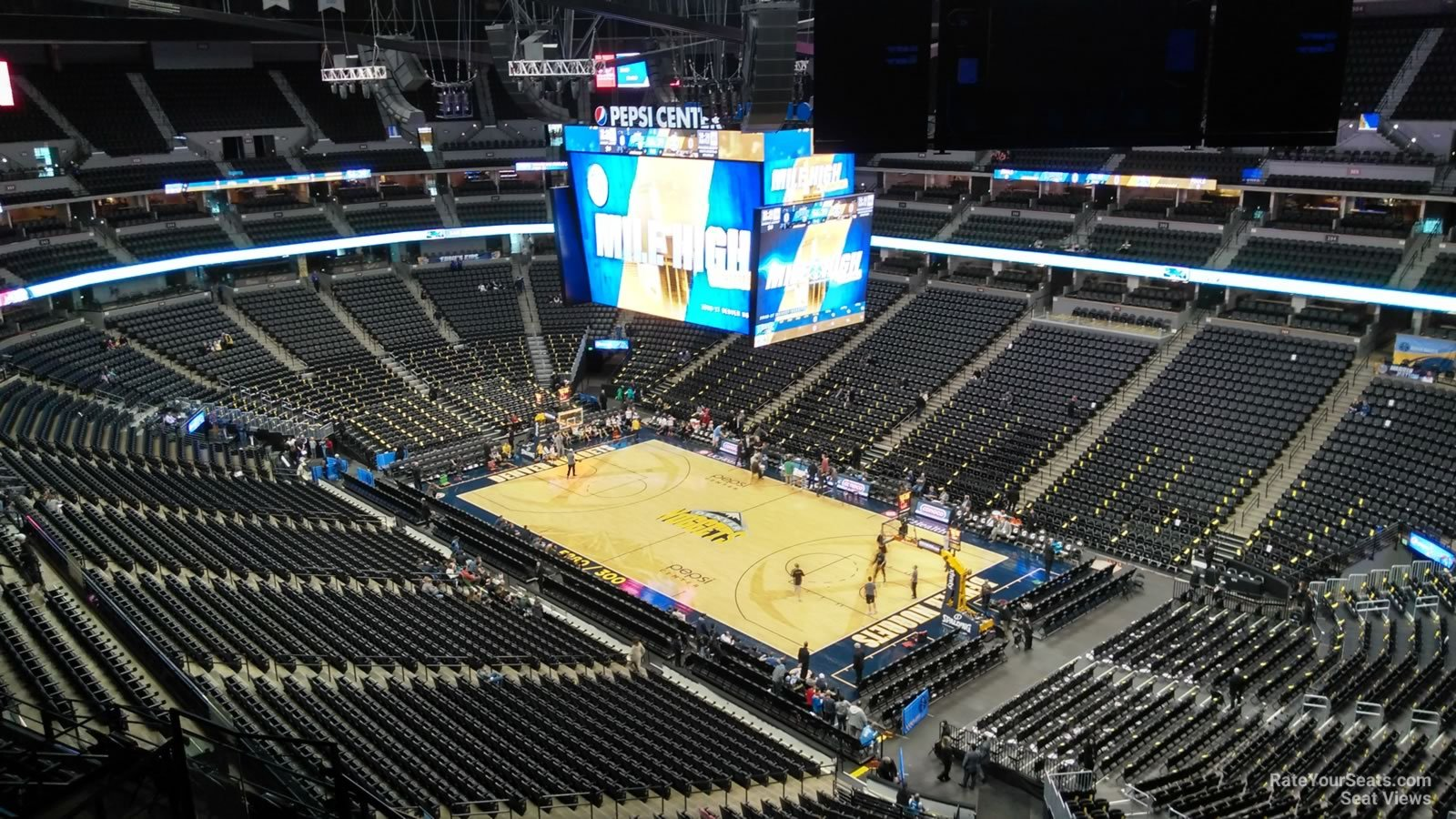 Denver Nuggets Seat View for Pepsi Center Section 332, Row 11