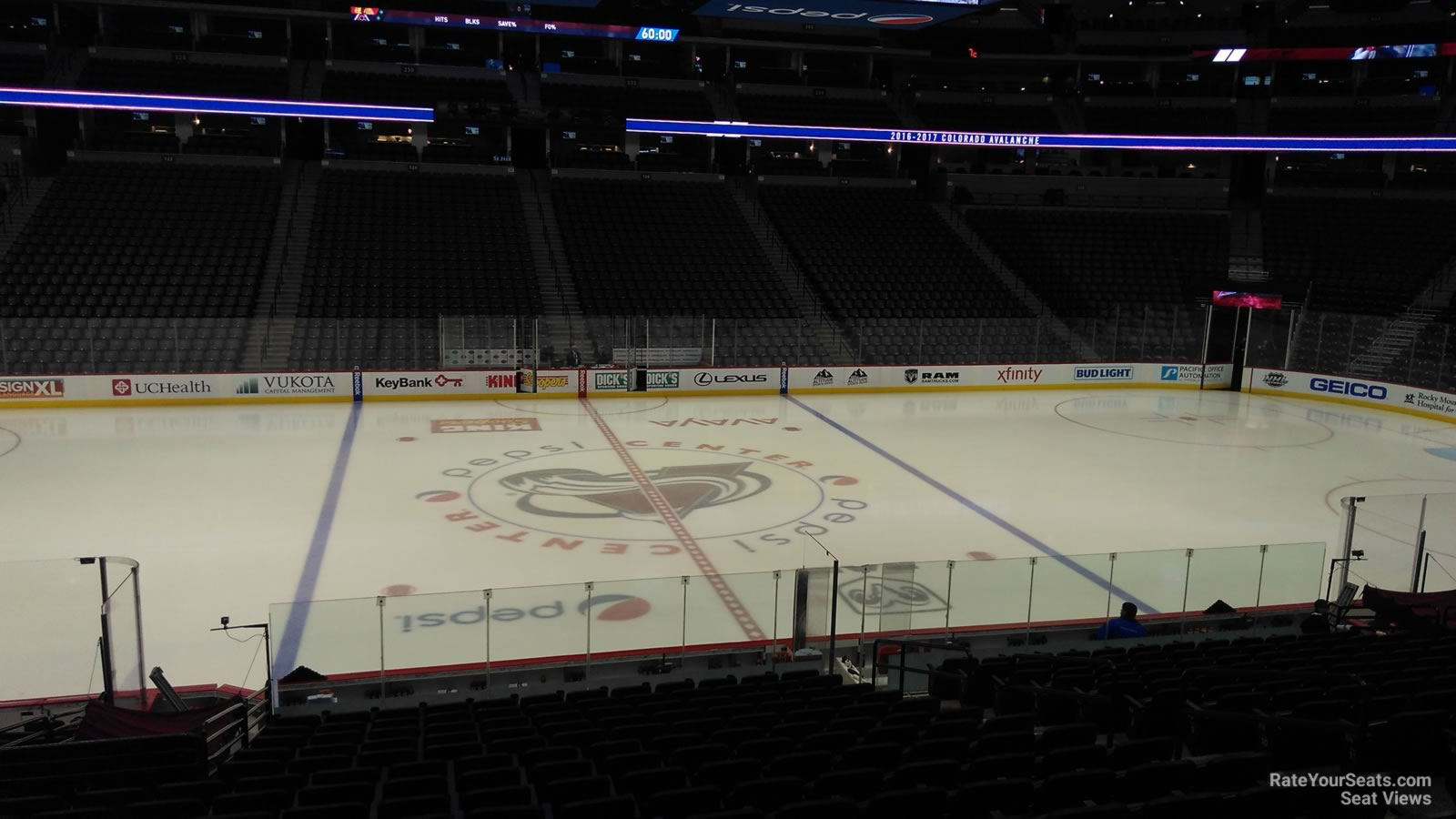 Colorado Avalanche Seat View for Ball Arena Section 102, Row 19