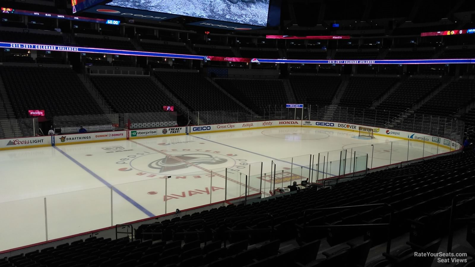 Colorado Avalanche Seat View For Pepsi Center Section 128
