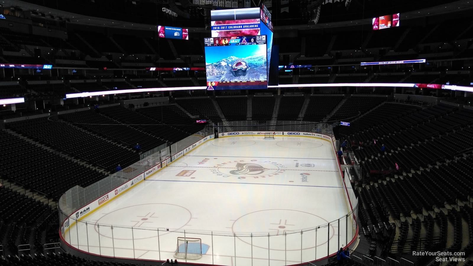 Colorado Avalanche Seat View For Pepsi Center Section 214