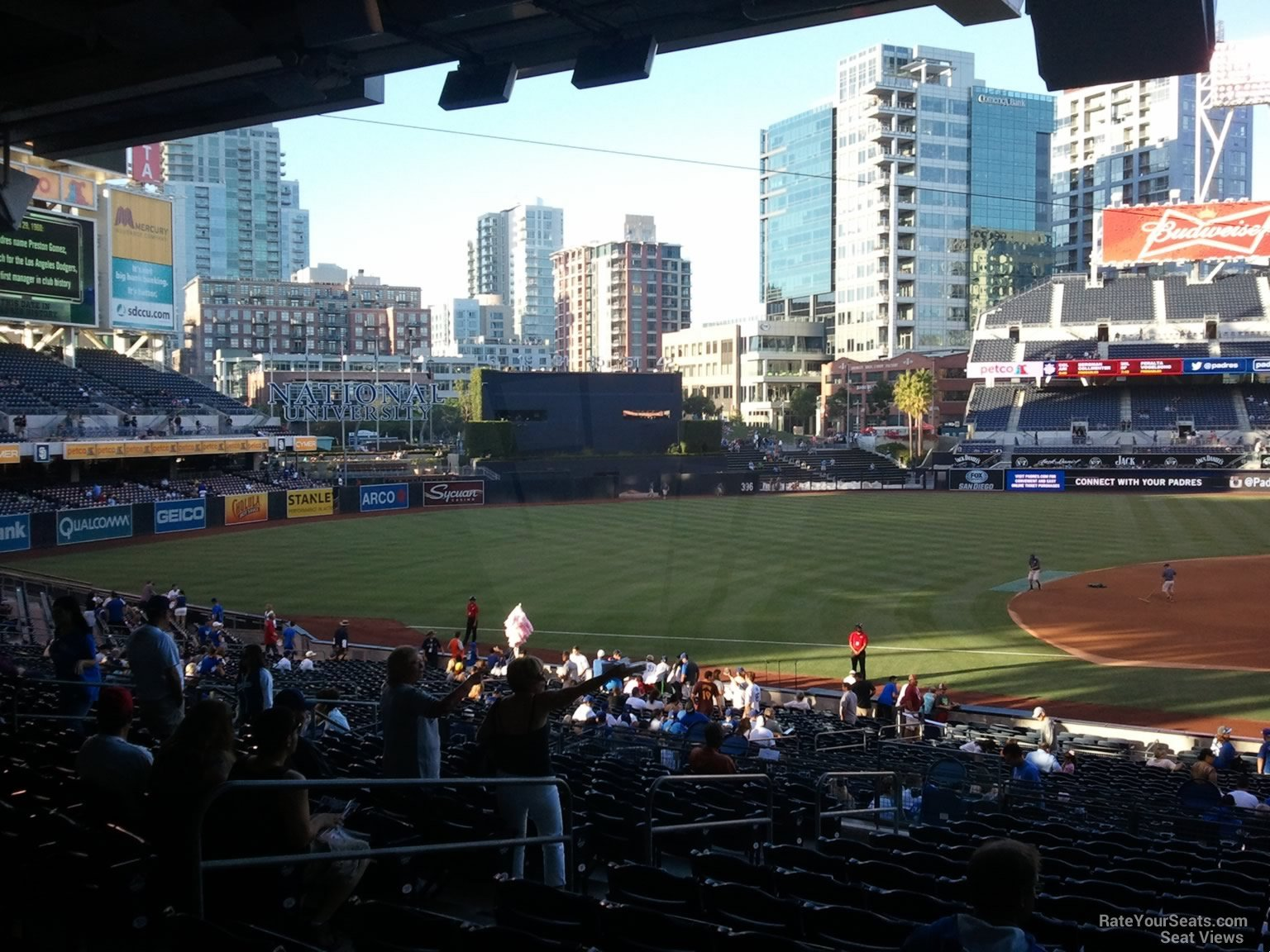 View of outfield from Section 110 at PETCO Park