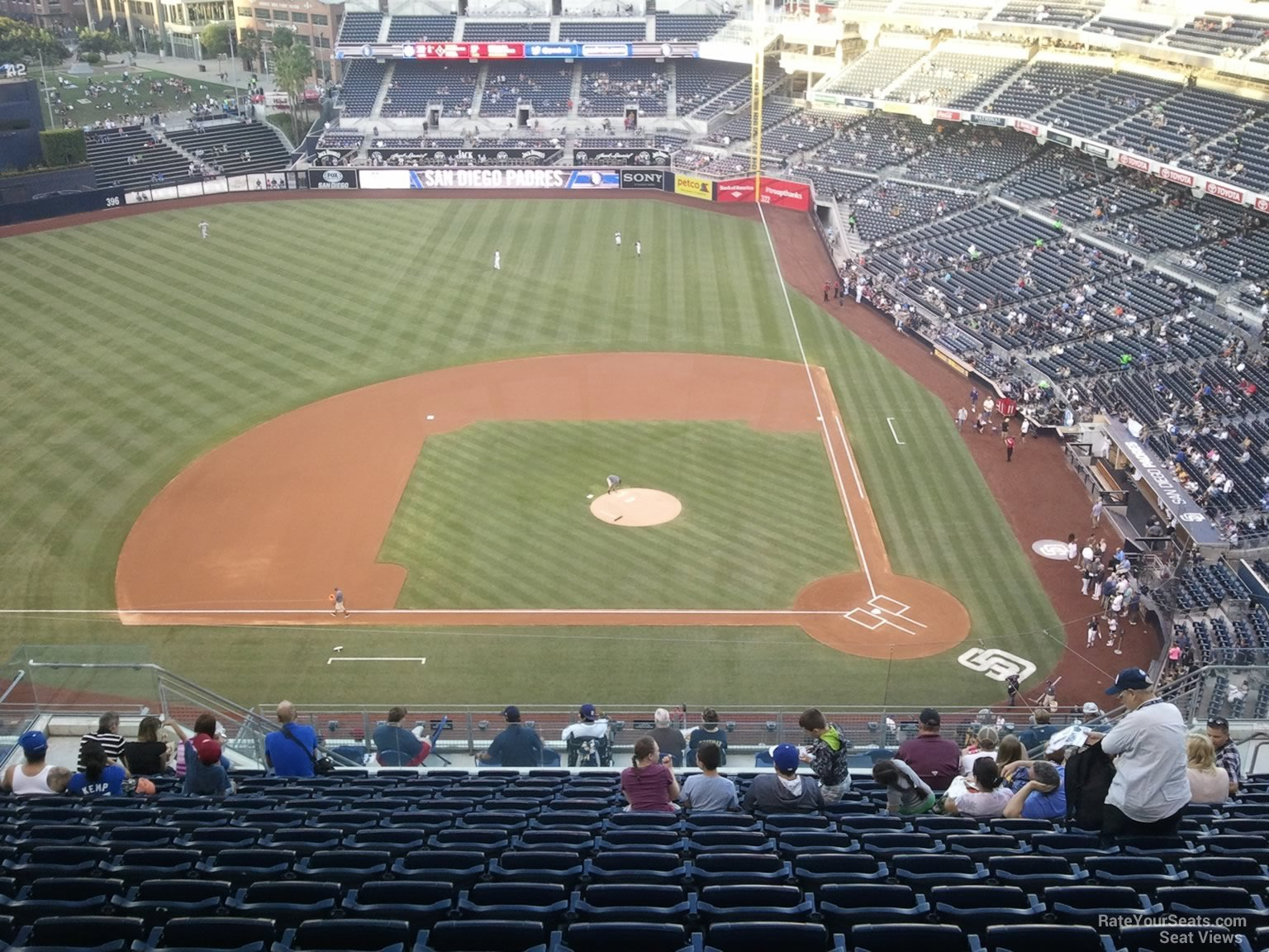 View from Section 310 Row 21 at Petco Park