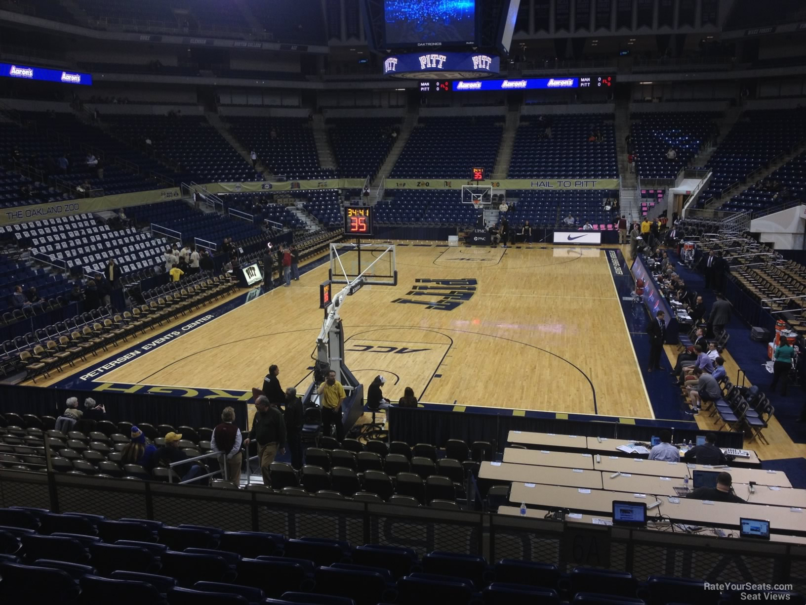 Seat View for Petersen Events Center Section 101, Row N
