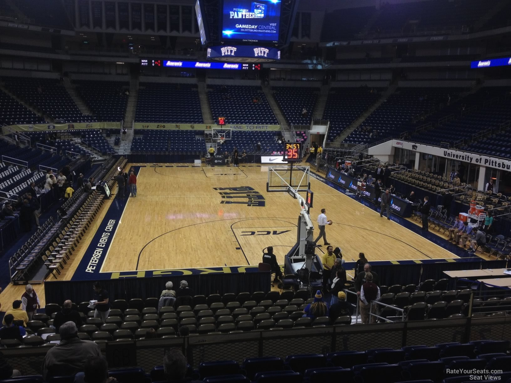 Seat View for Petersen Events Center Section 102, Row N