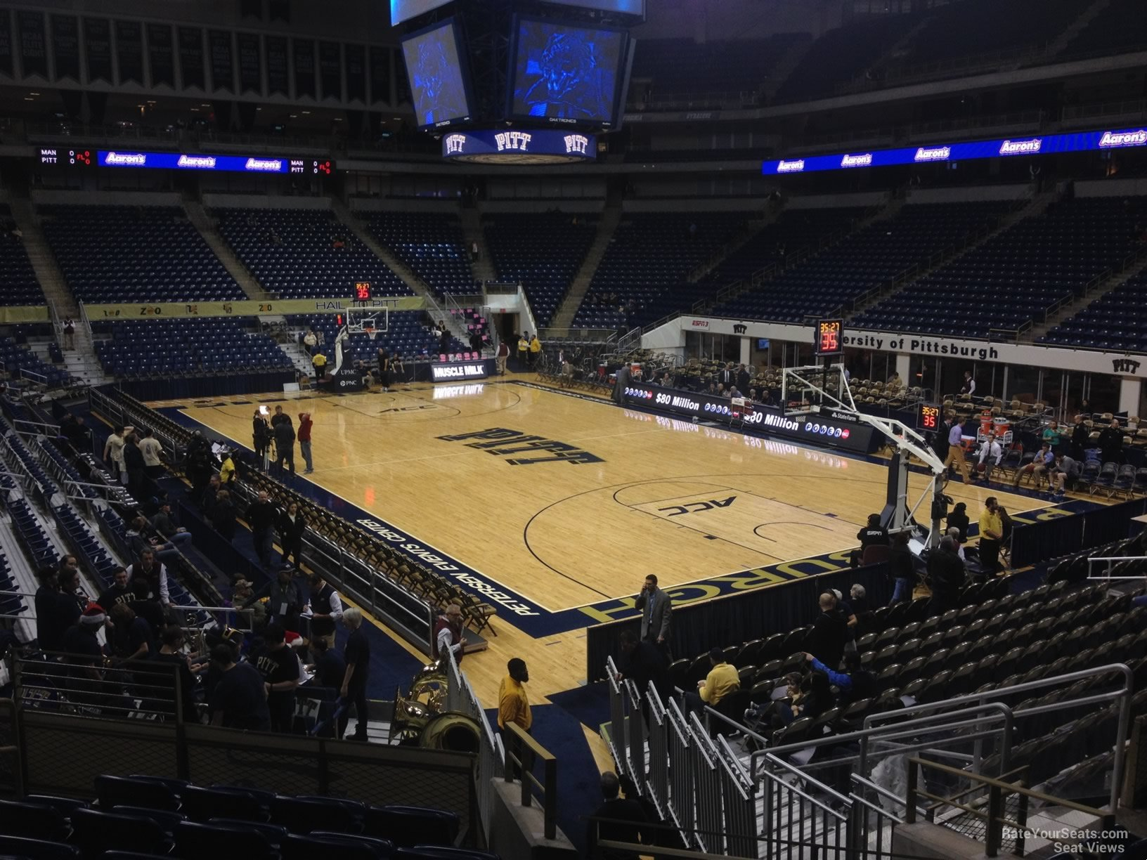 Seat View for Petersen Events Center Section 104, Row N