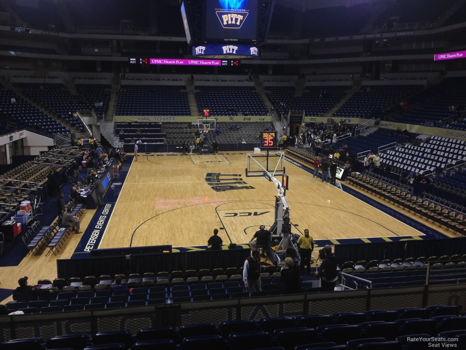 Seat View for Petersen Events Center Section 115, Row N
