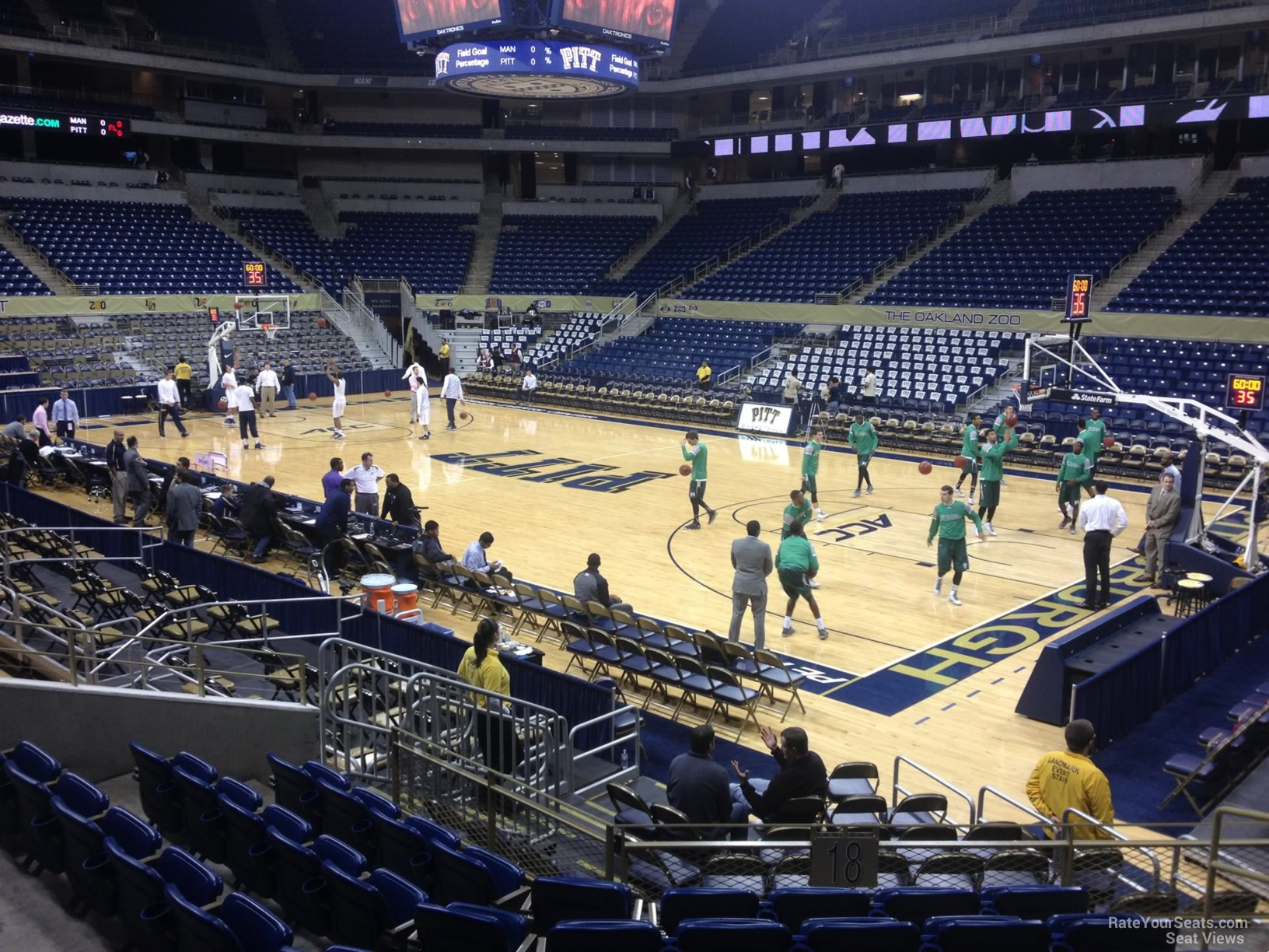 Seat View for Petersen Events Center Section 118, Row H