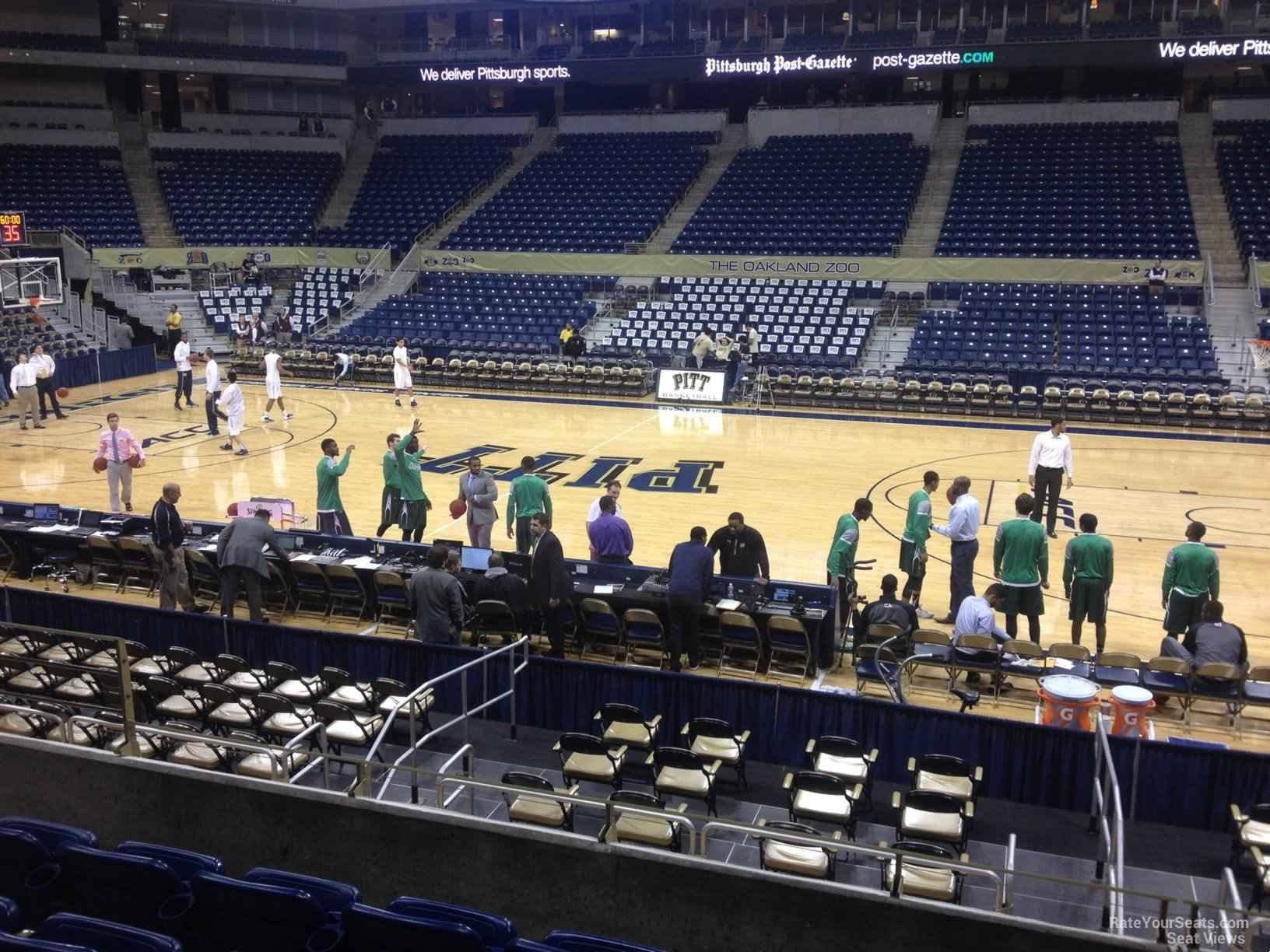 Seat View for Petersen Events Center Section 120, Row H