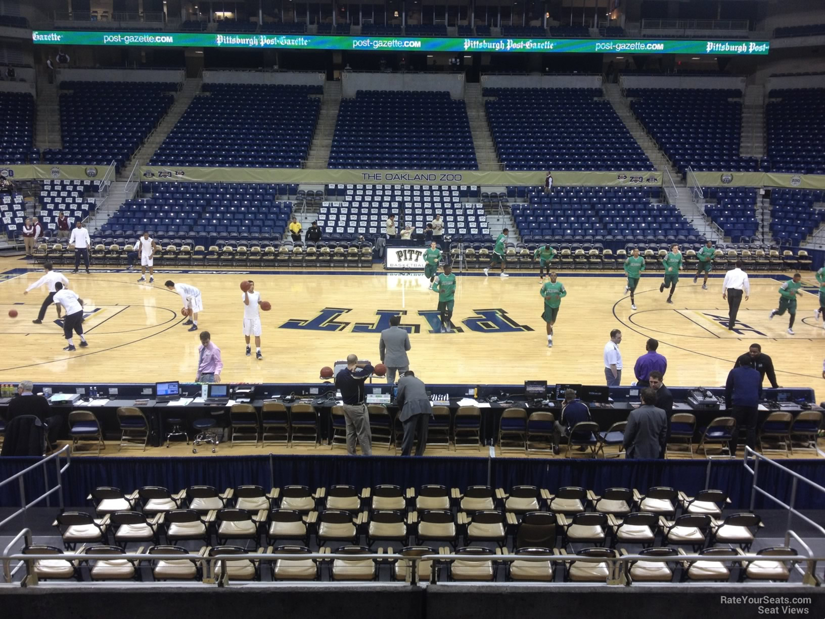 Seat View for Petersen Events Center Section 121, Row H