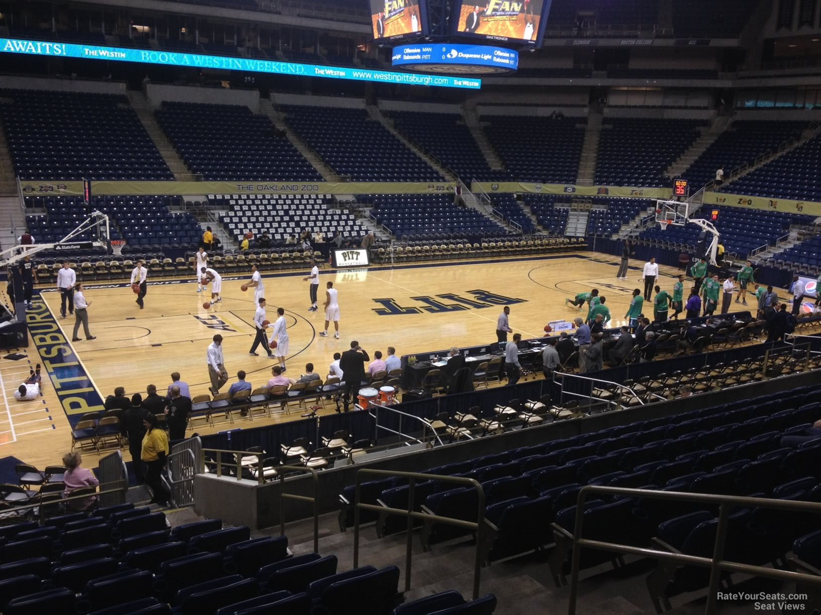 Seat View for Petersen Events Center Section 123, Row N