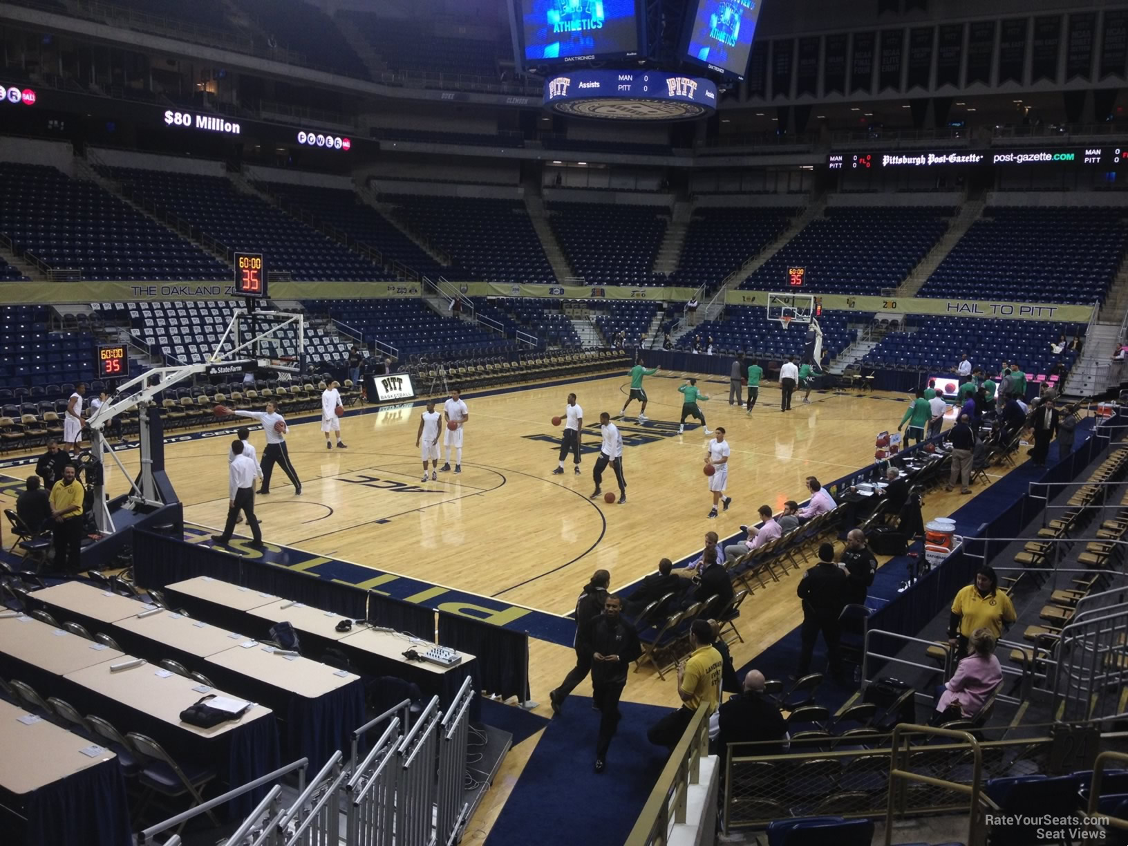 Seat View for Petersen Events Center Section 125, Row H