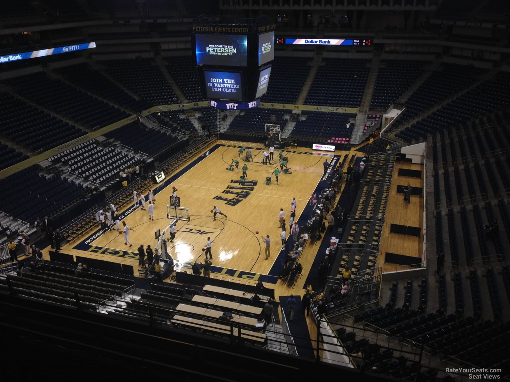 Seat View for Petersen Events Center Section 201, Row F