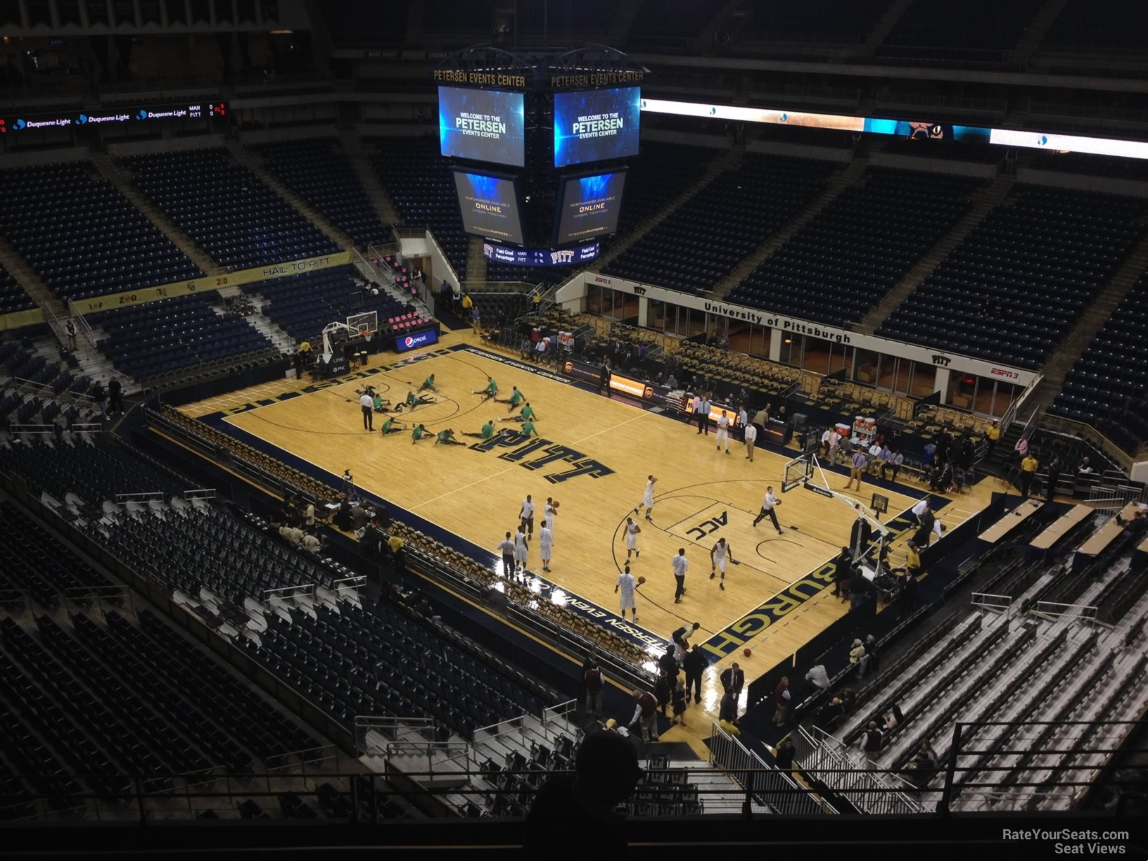 Seat View for Petersen Events Center Section 205, Row F
