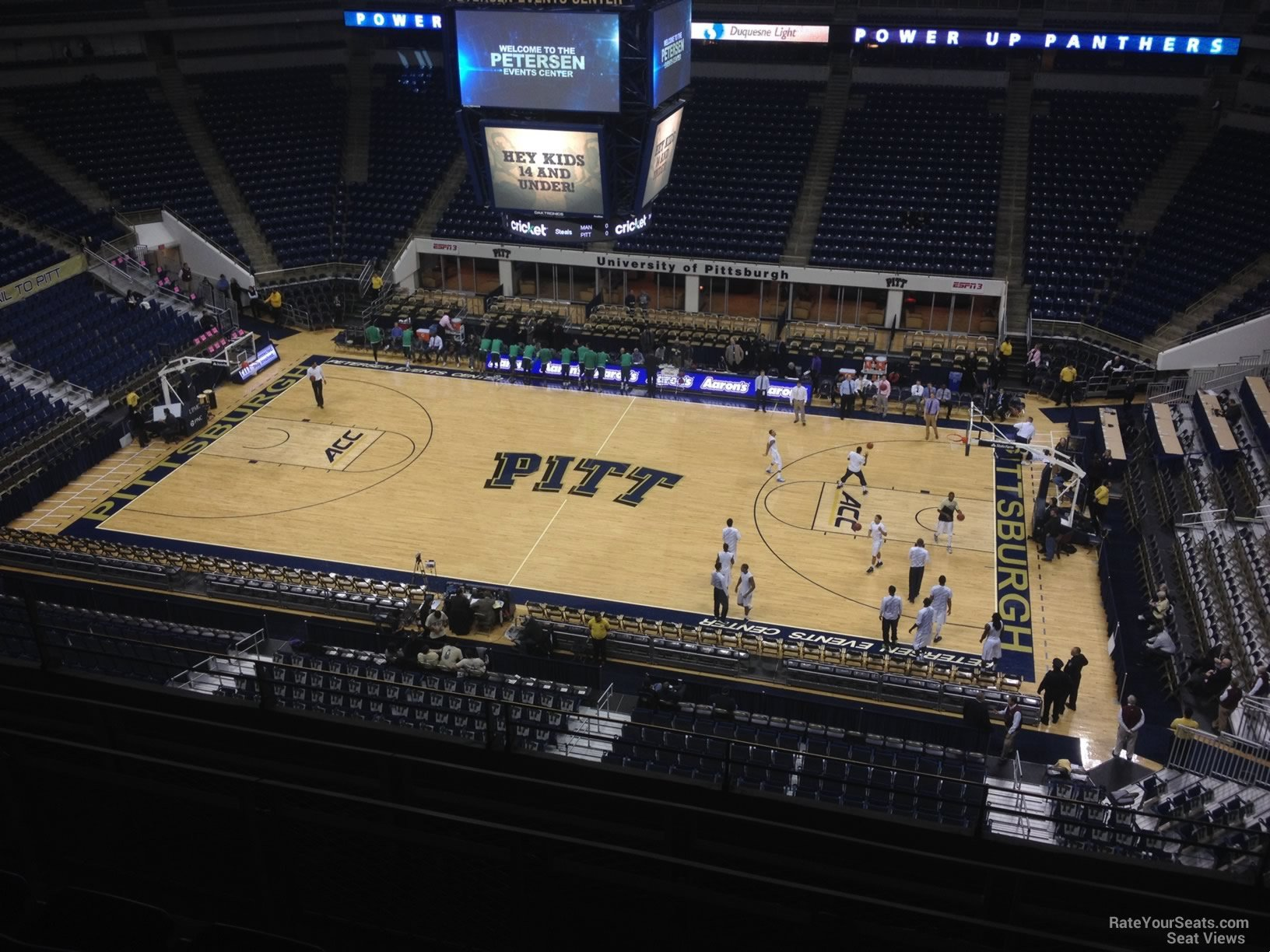 Seat View for Petersen Events Center Section 207, Row F