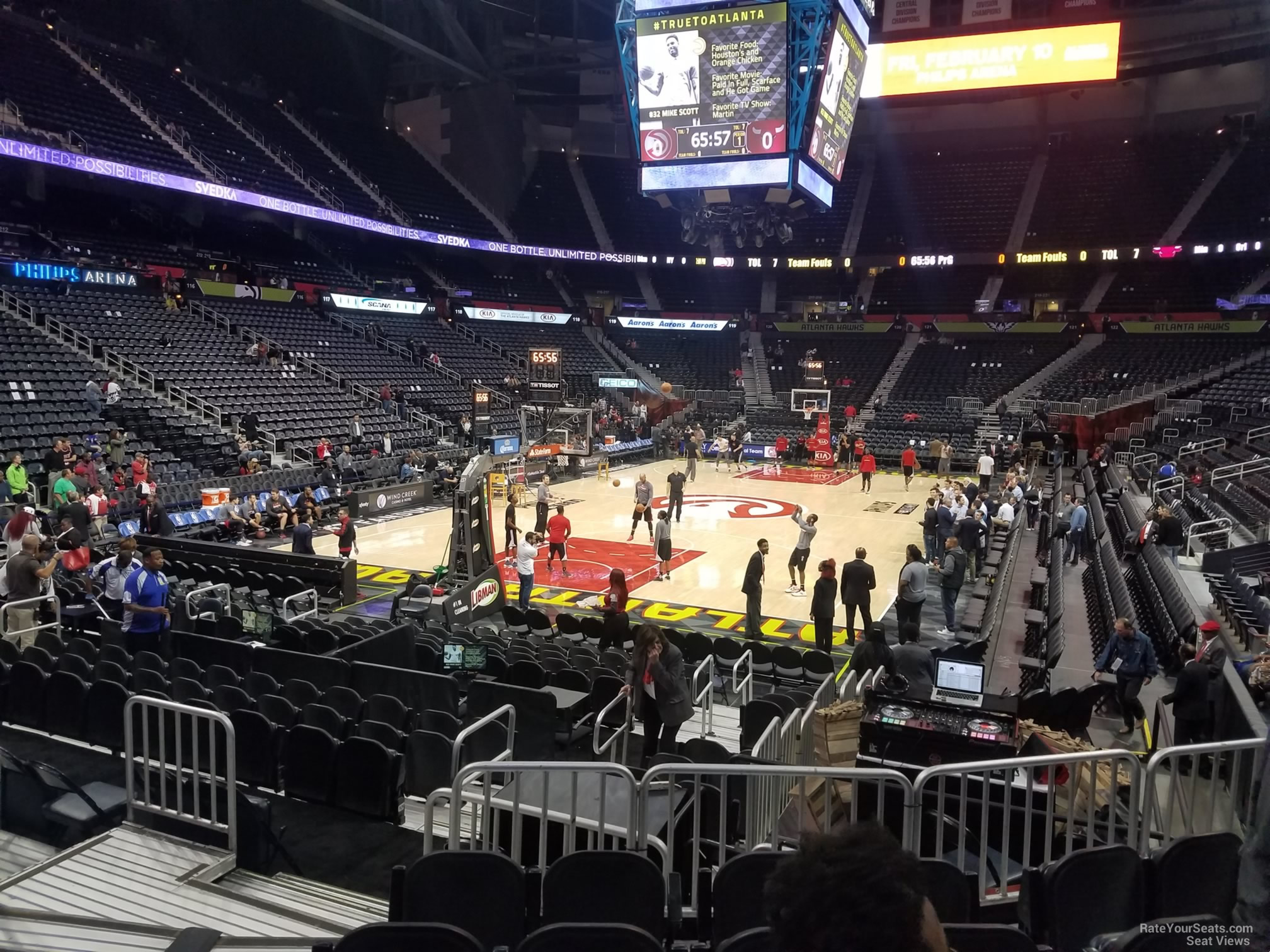 Seat View for Philips Arena Section 108