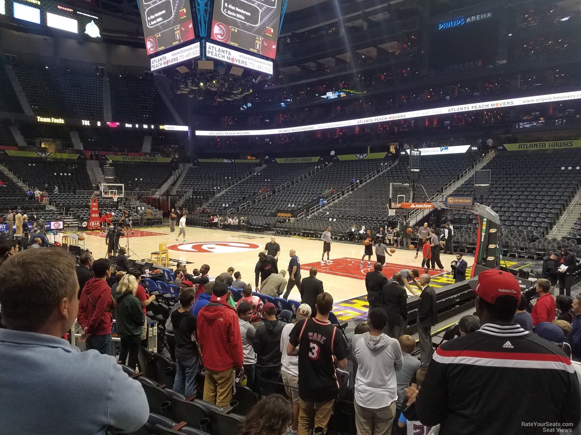 Seat View for State Farm Arena Section 116, Row F