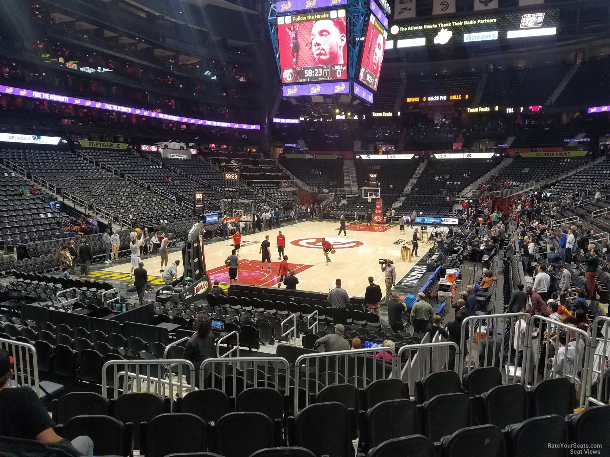 Seat View for Philips Arena Section 119