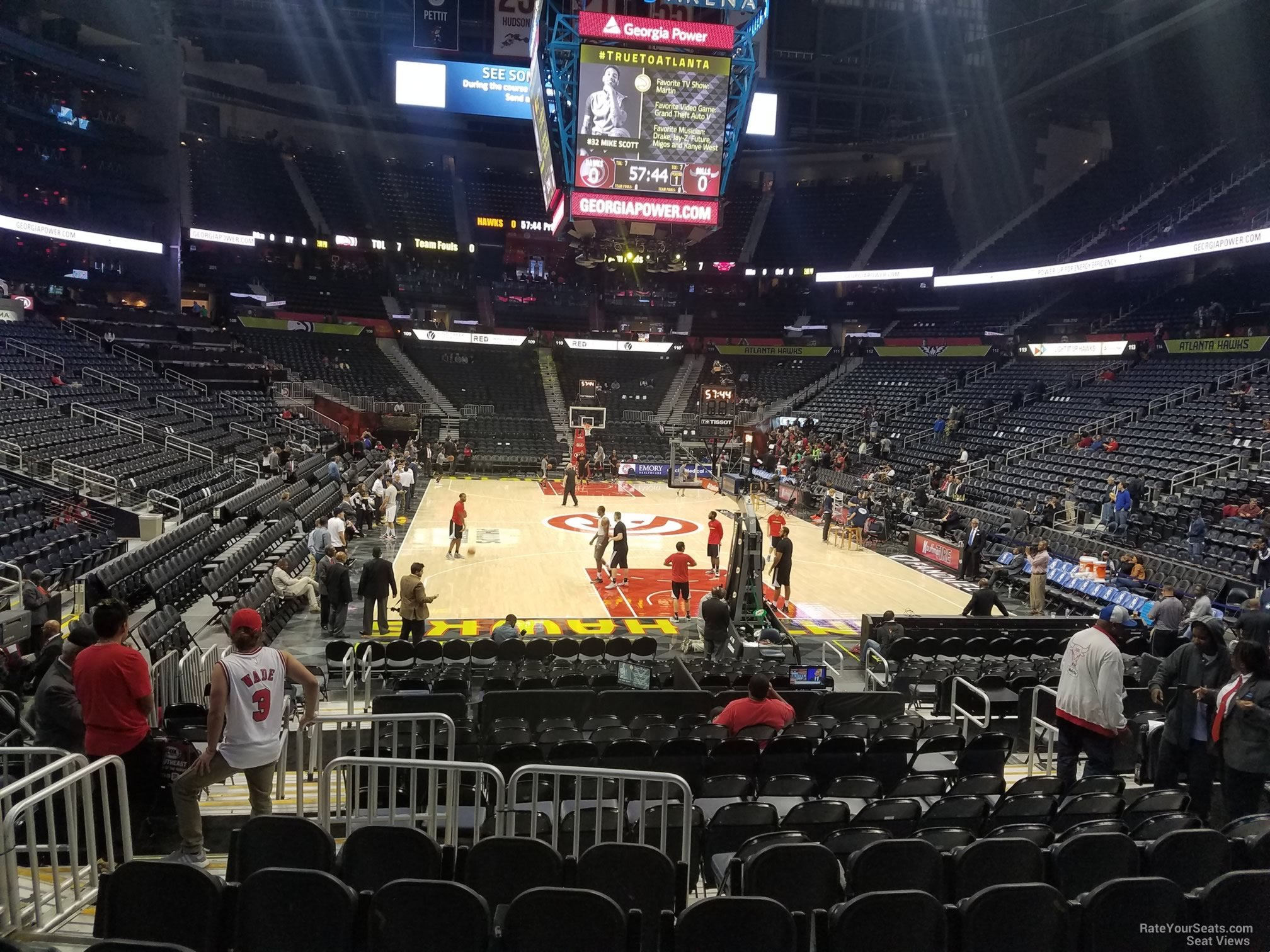 Seat View for Philips Arena Section 121