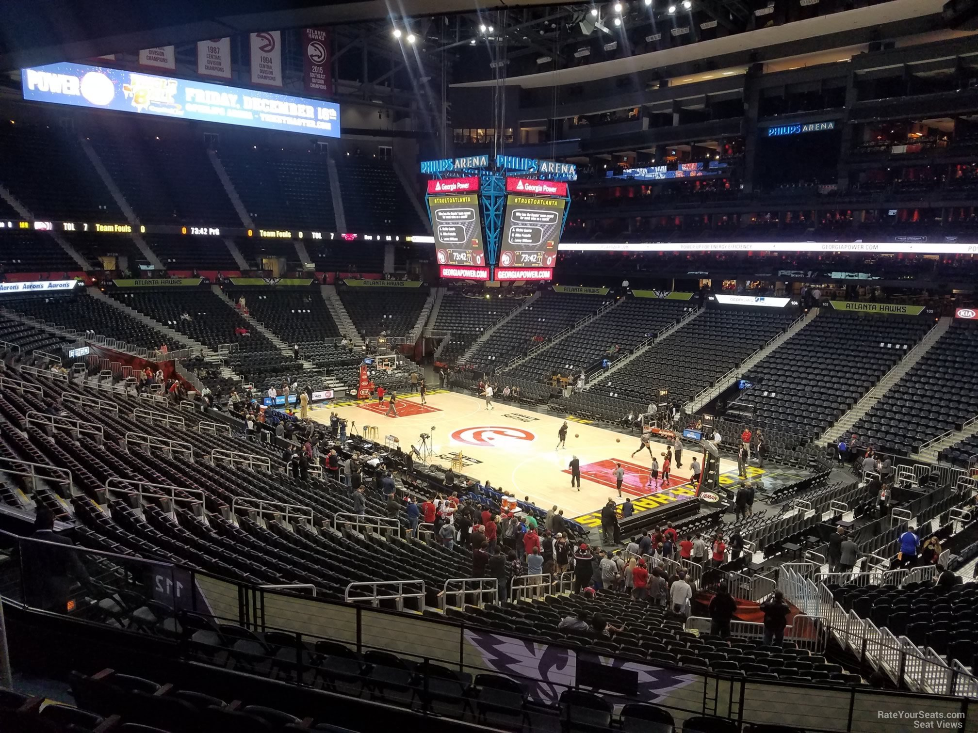 Seat View for Philips Arena Section 208