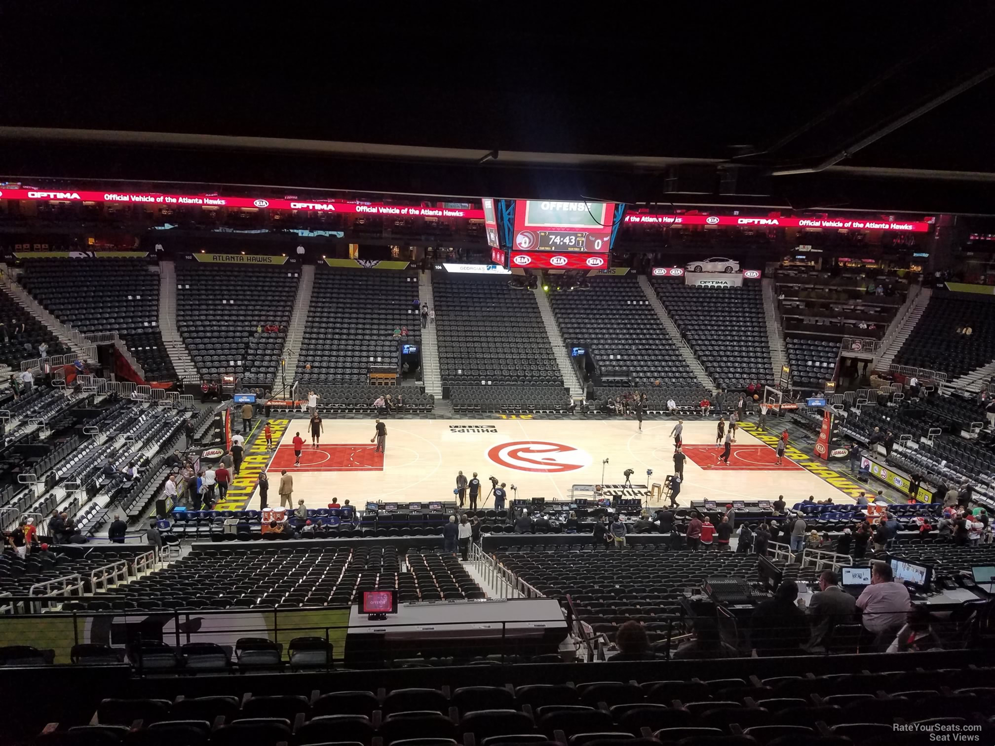 Seat View for Philips Arena Section 211