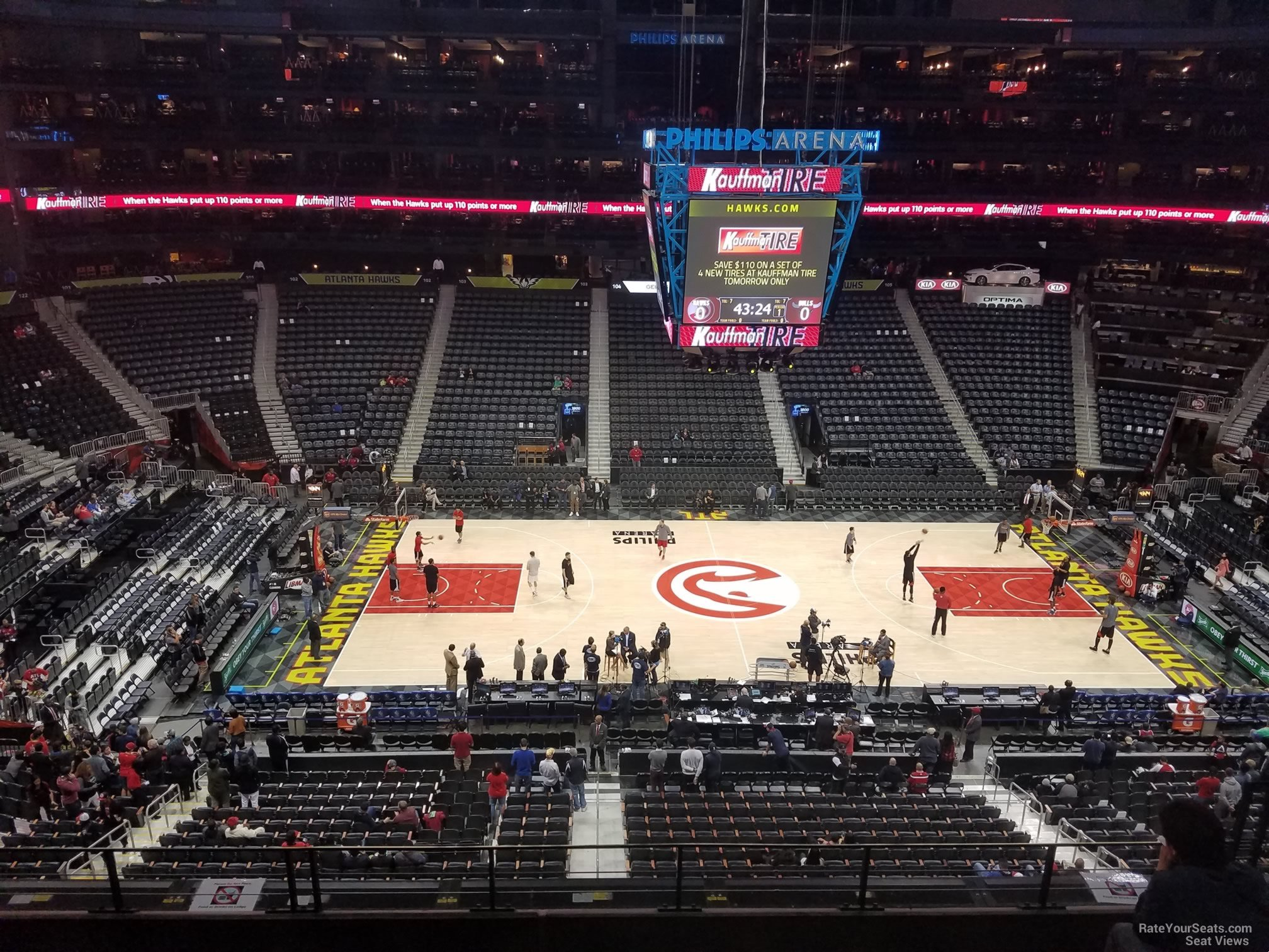 Seat View for Philips Arena Section 311