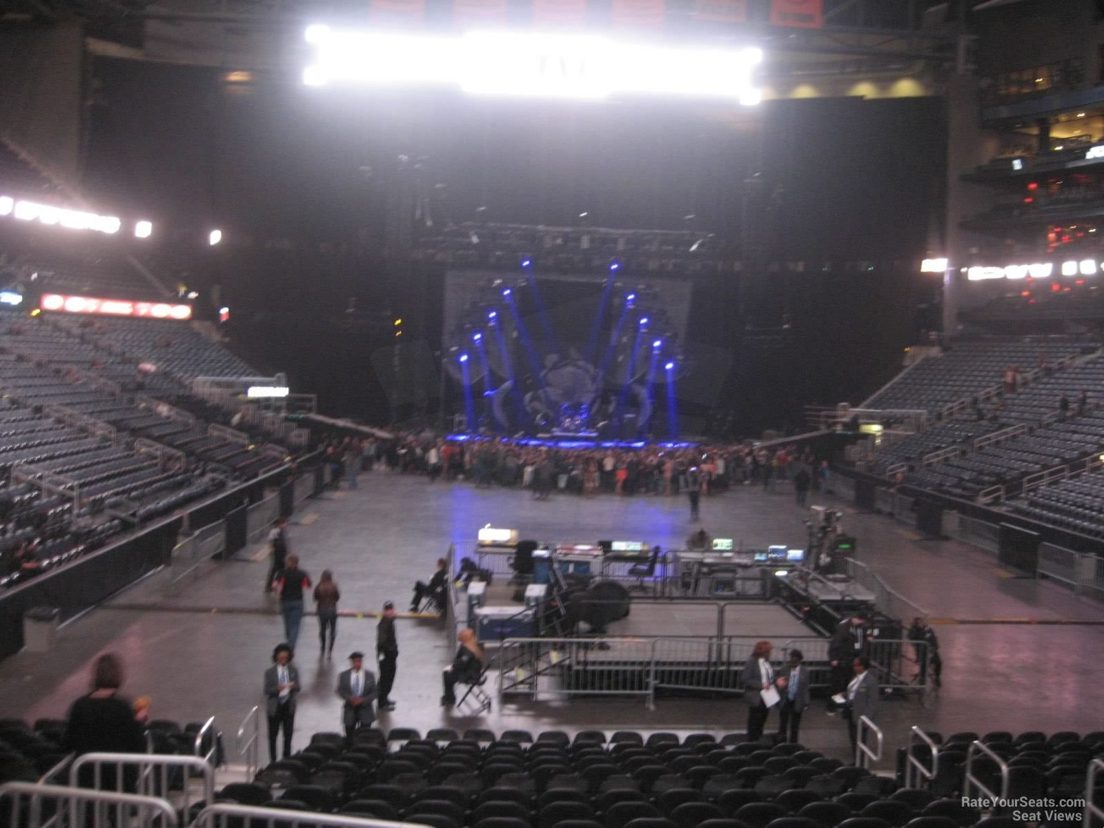 philips arena section 110 concert seating