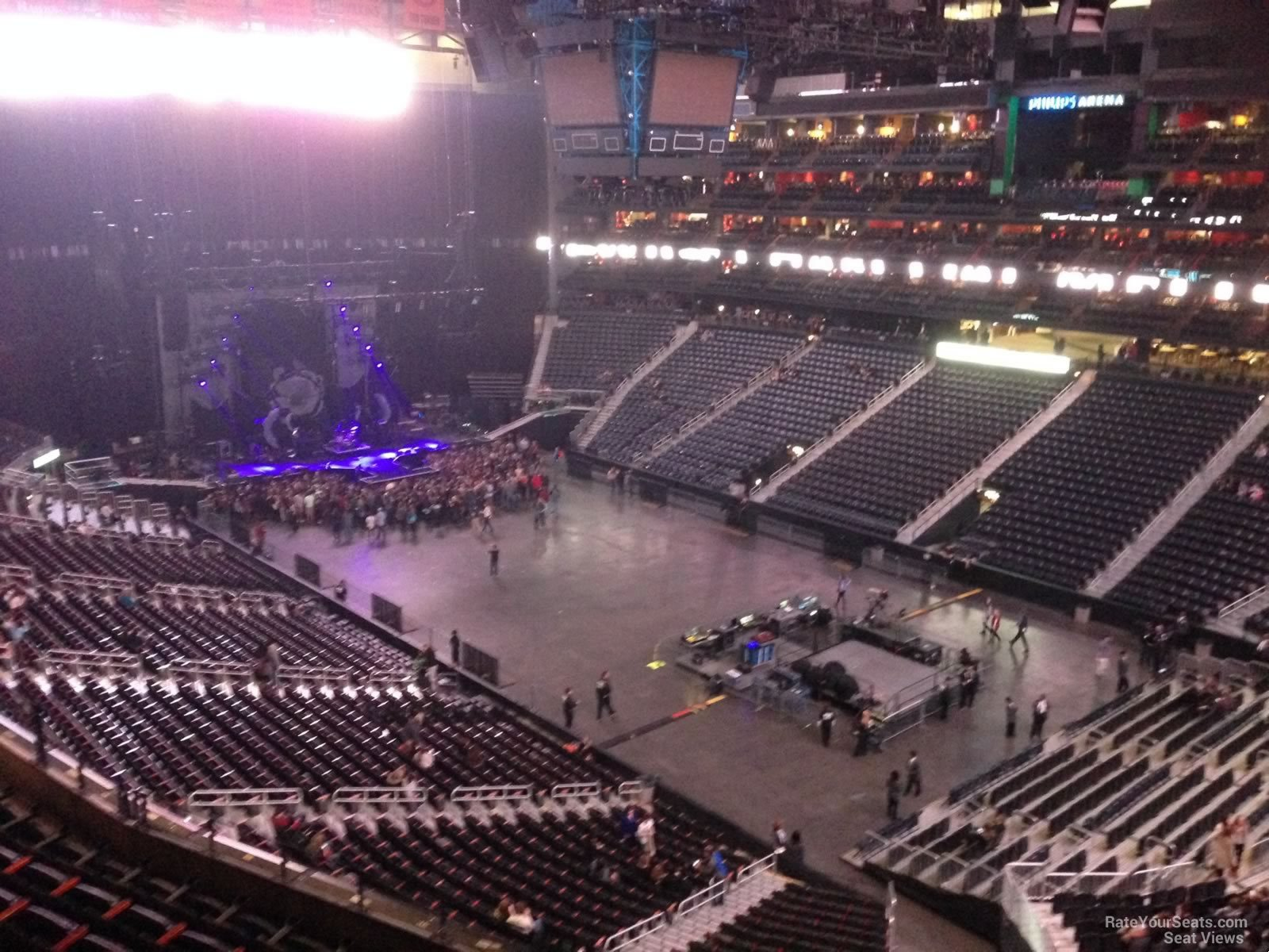 Philips arena section 307 concert seating rateyourseats com