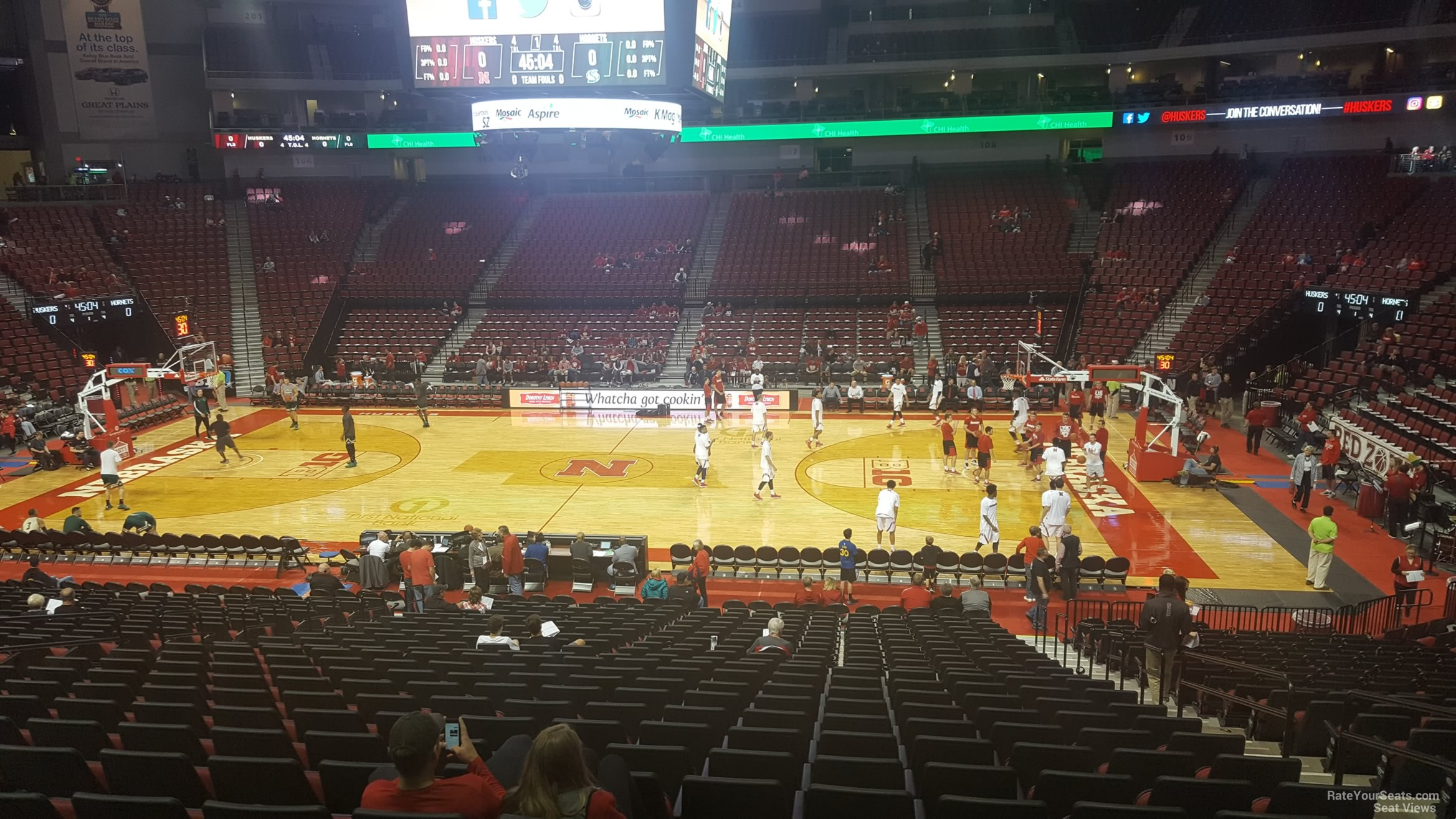 Seat View for Pinnacle Bank Arena Section 106, Row 24