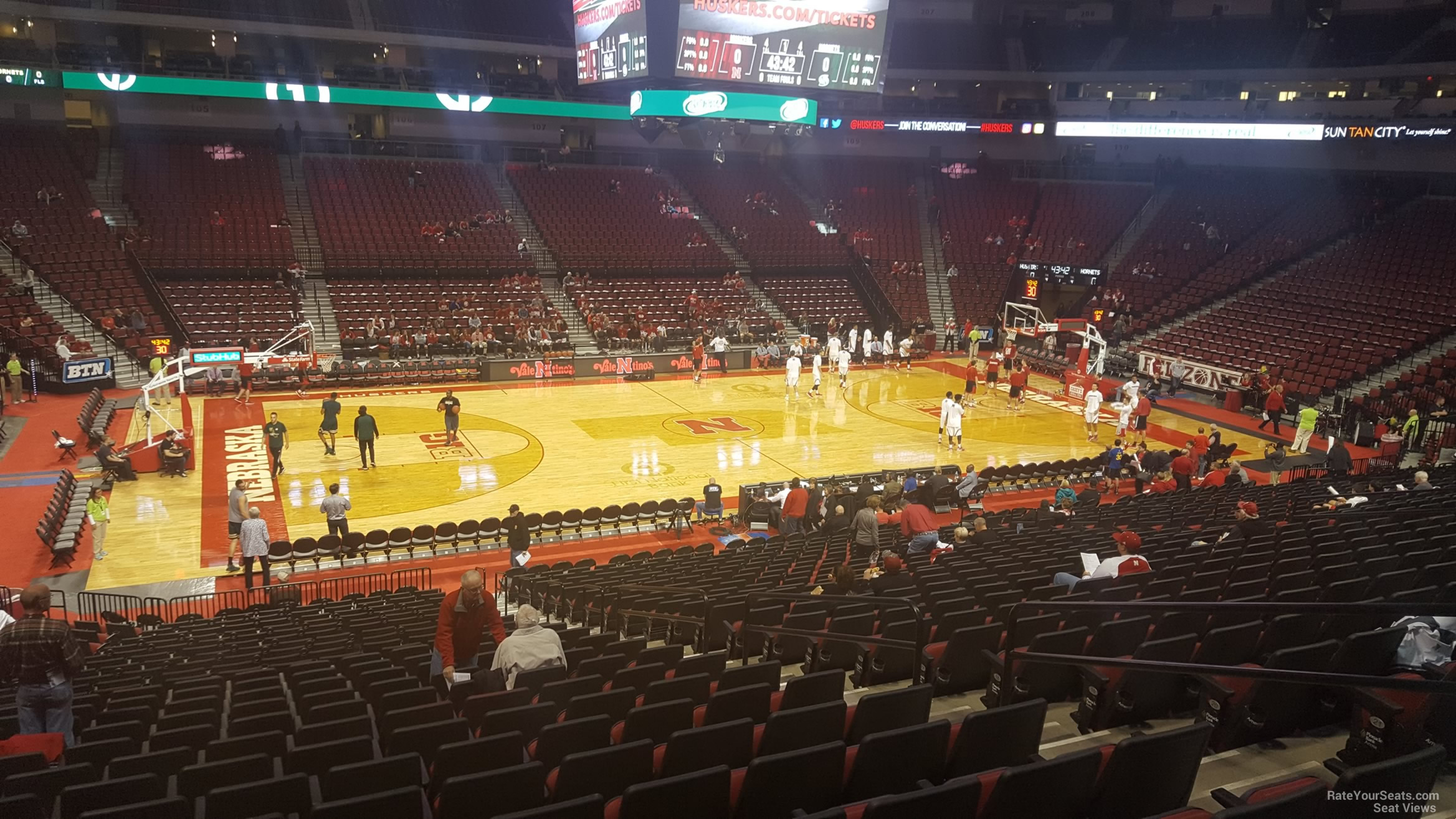 Seat View for Pinnacle Bank Arena Section 108, Row 24