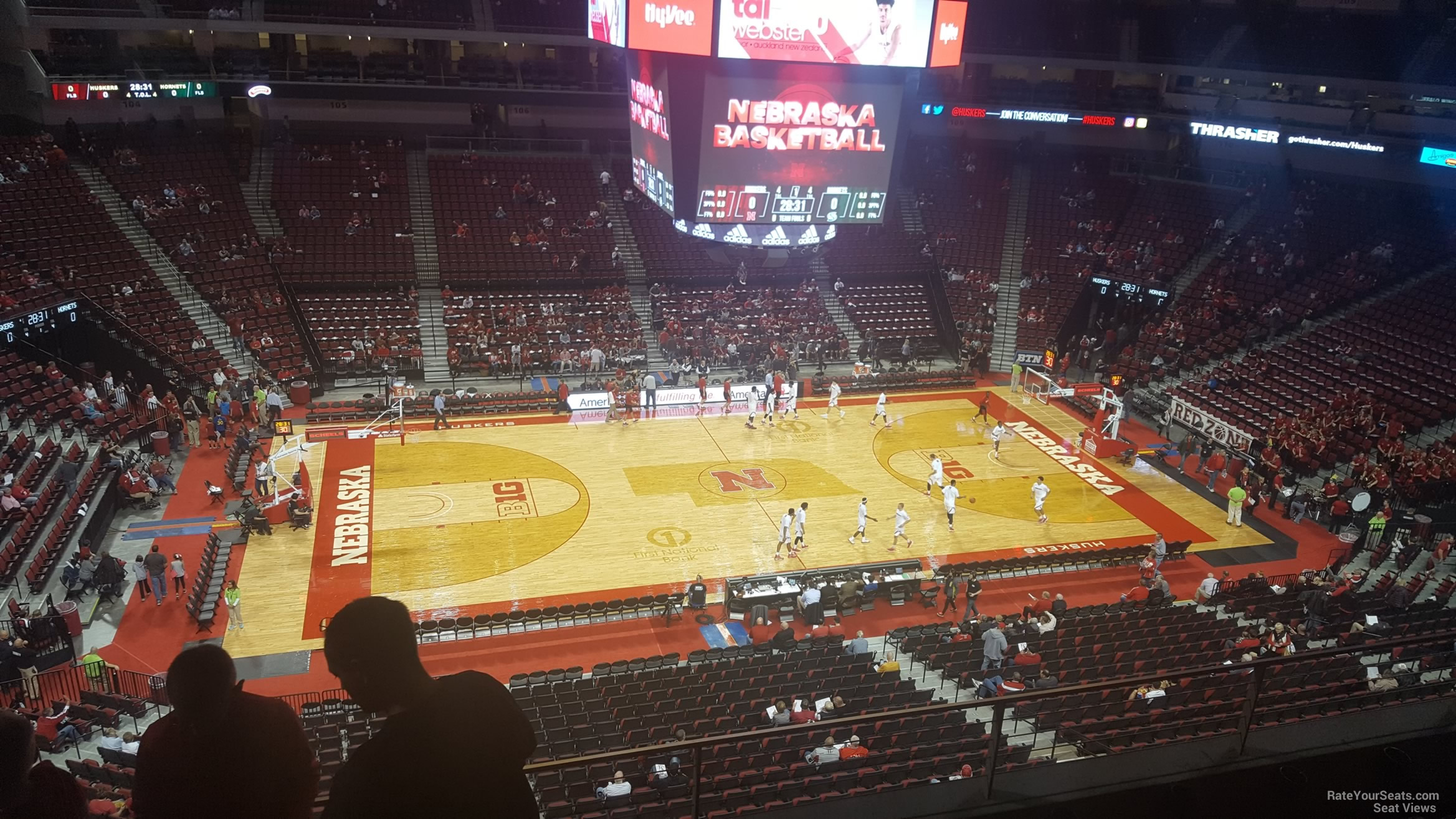 Seat View For Pinnacle Bank Arena Section 220 Row 3