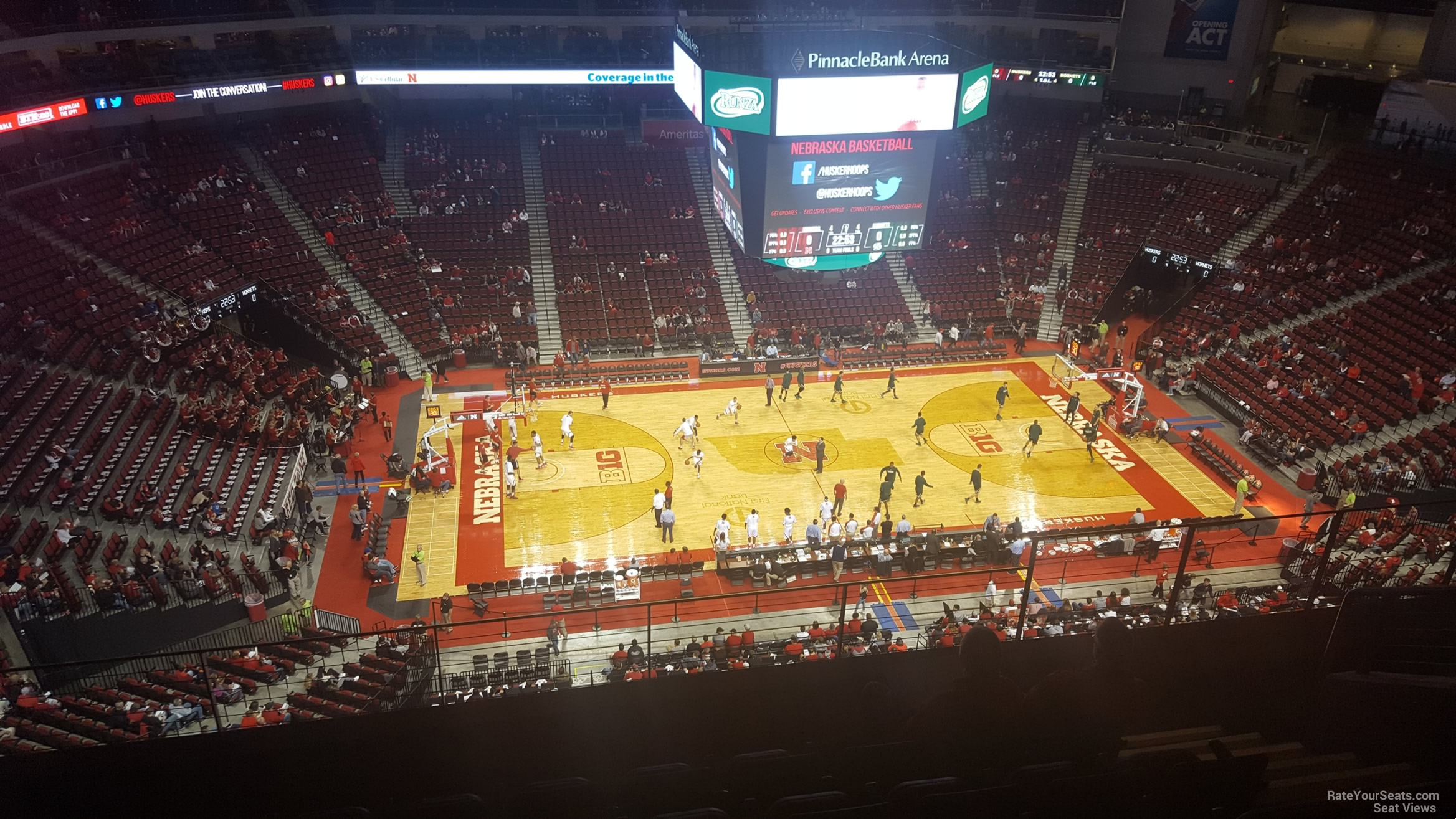Seat View for Pinnacle Bank Arena Section 305, Row 6
