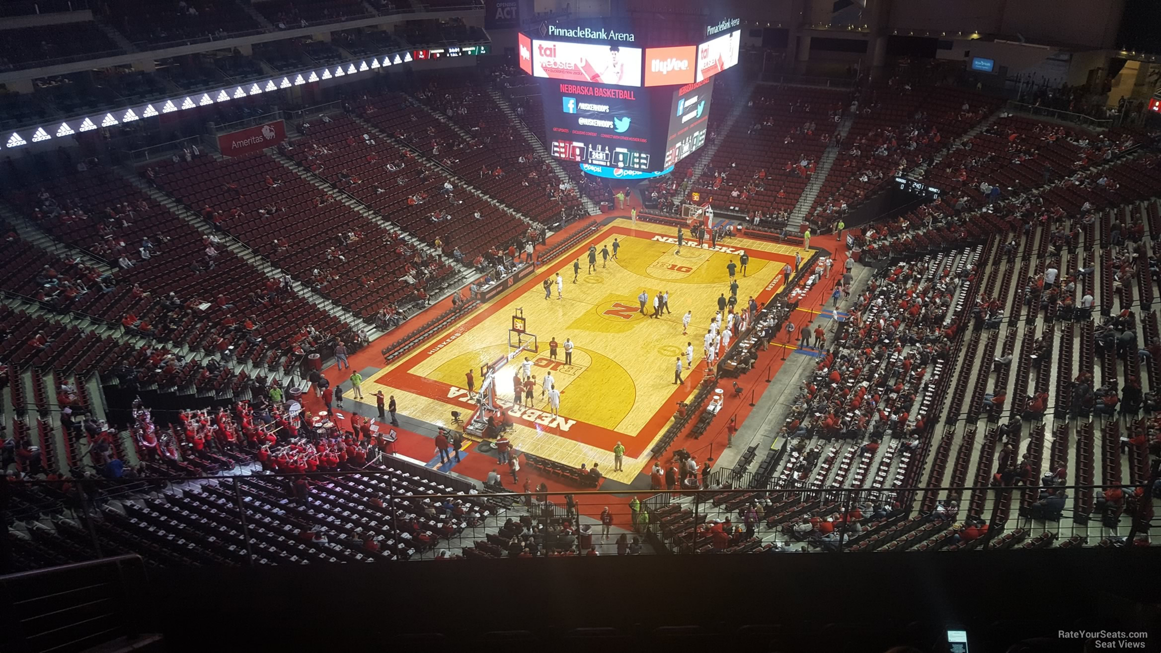 Seat View for Pinnacle Bank Arena Section 309, Row 6