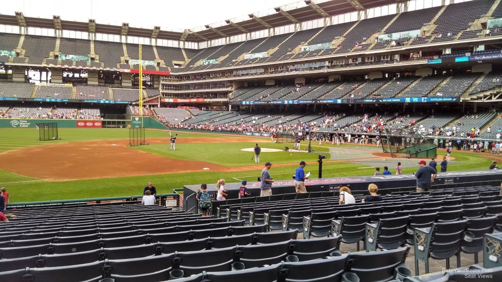 Seat View for Progressive Field Section 165, Row V