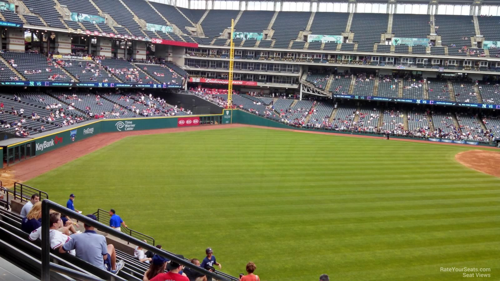Bleacher view from Progressive Field