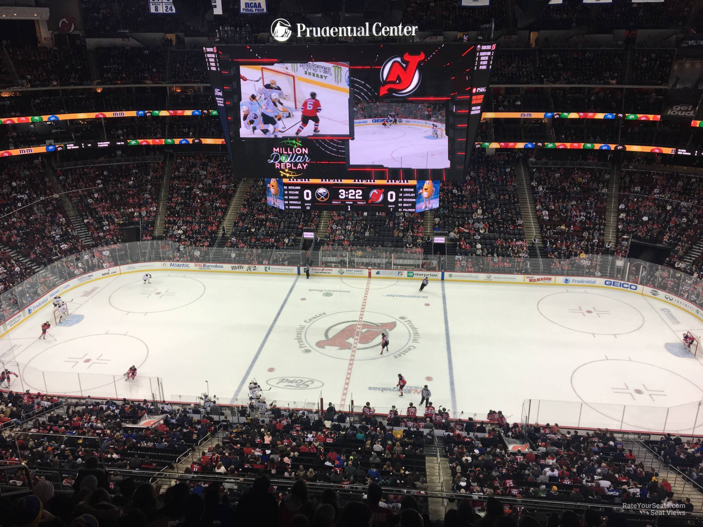 New Jersey Devils Seat View for Prudential Center Section 112, Row 6