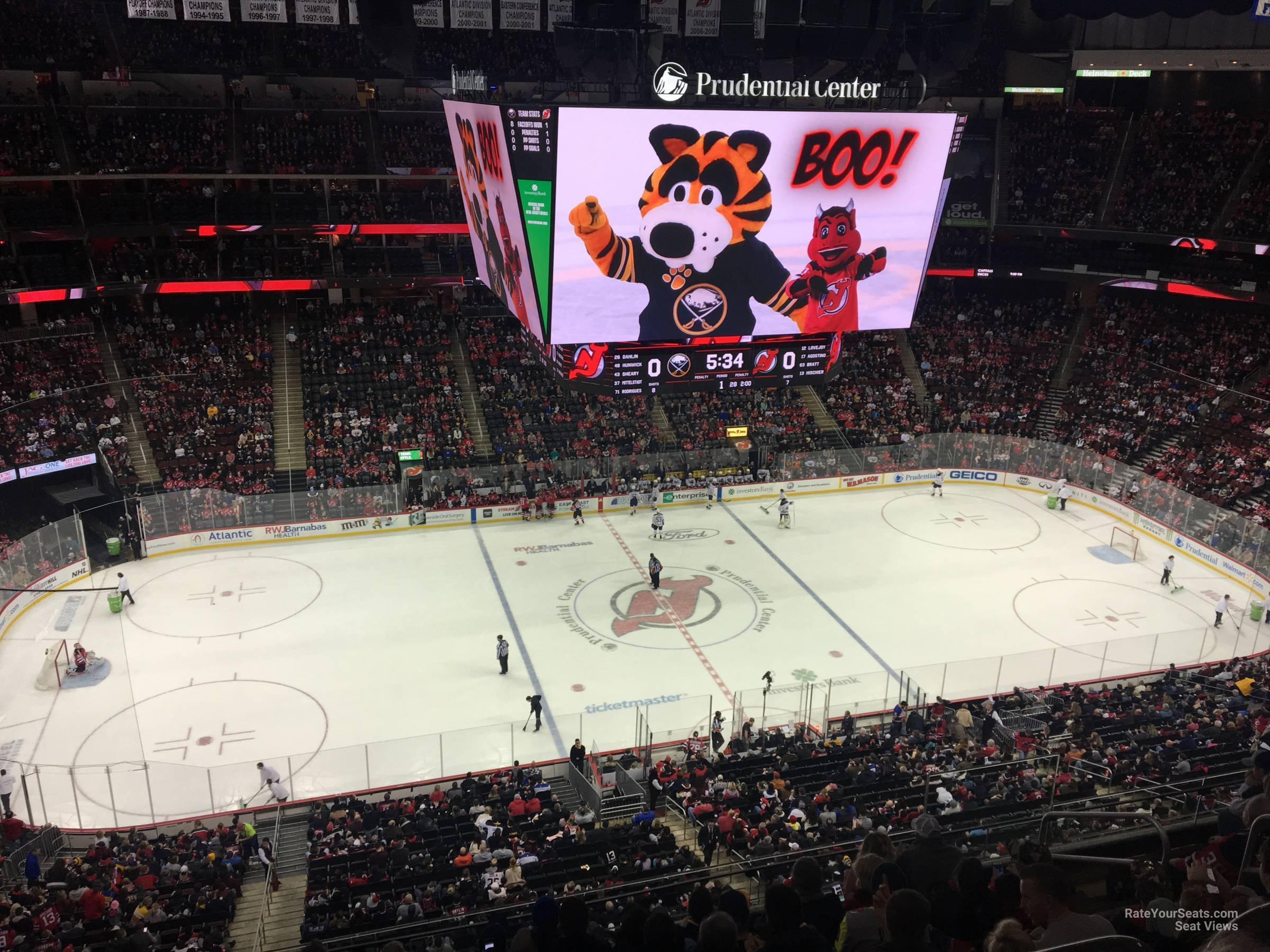 New Jersey Devils Seat View for Prudential Center Section 127, Row 6