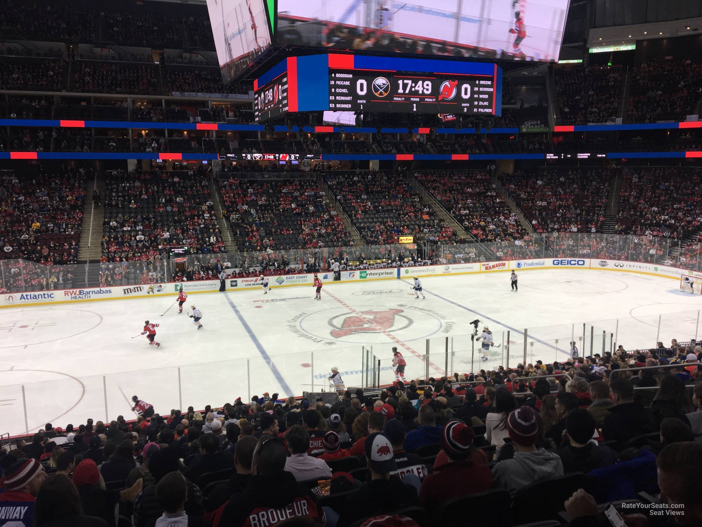 New Jersey Devils Seat View for Prudential Center Section 19, Row 24