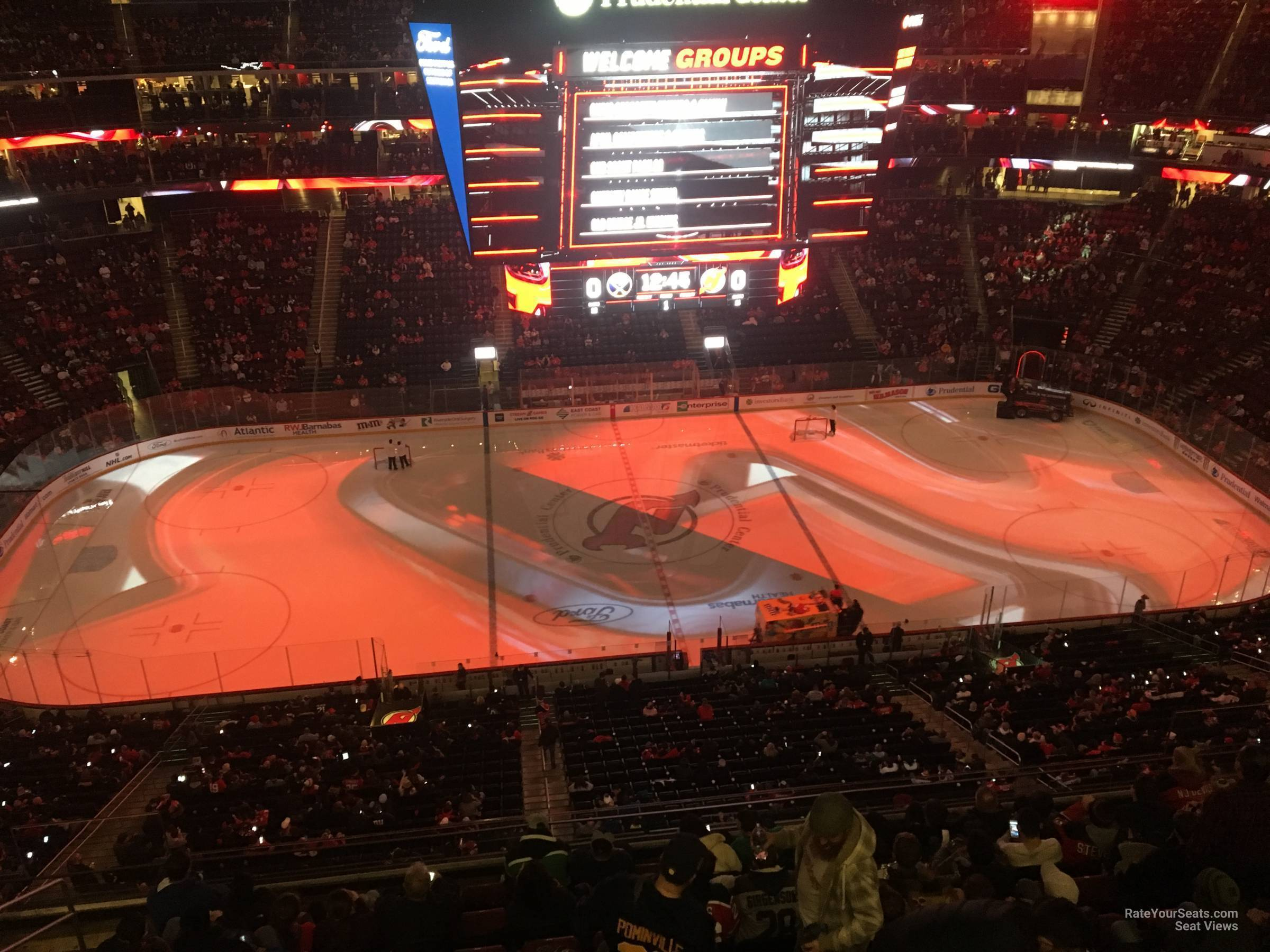 New Jersey Devils Seat View for Prudential Center Section 212, Row 1