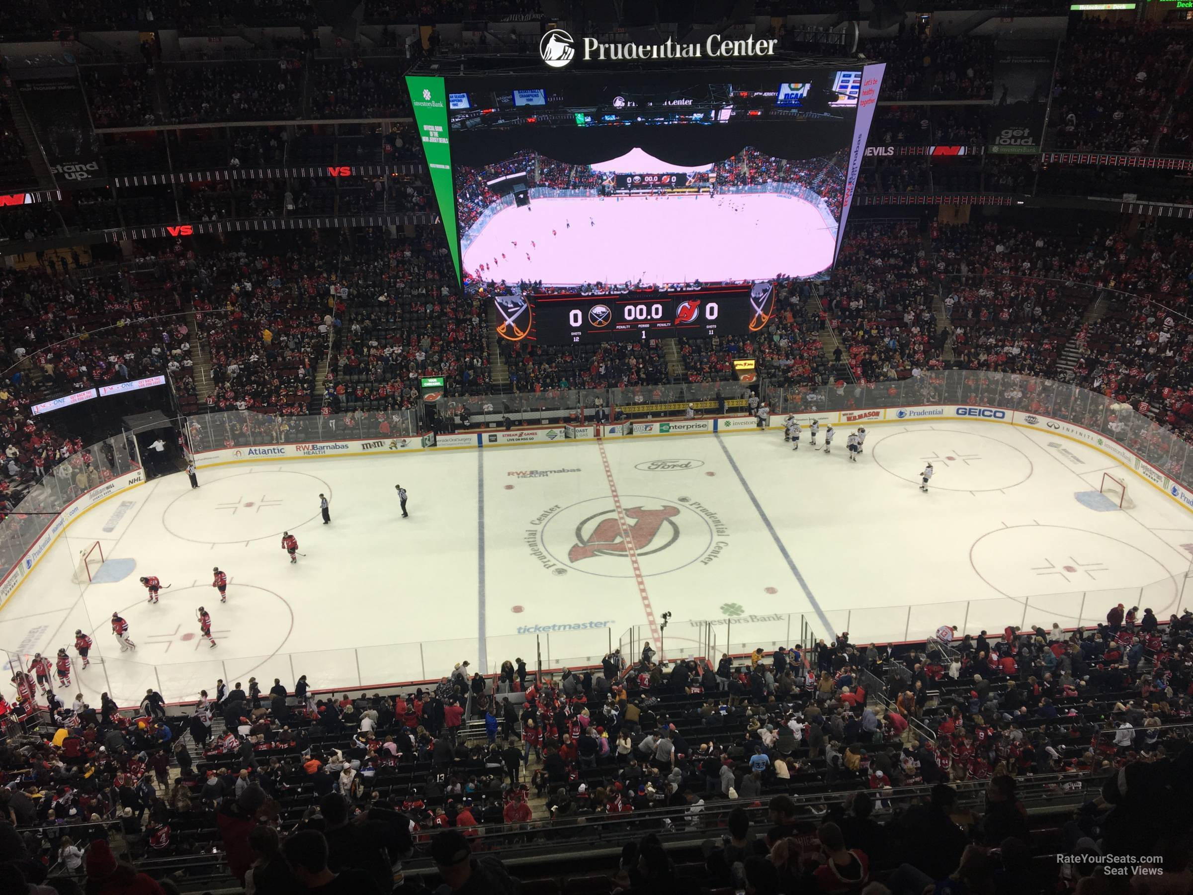 New Jersey Devils Seat View for Prudential Center Section 229, Row 1